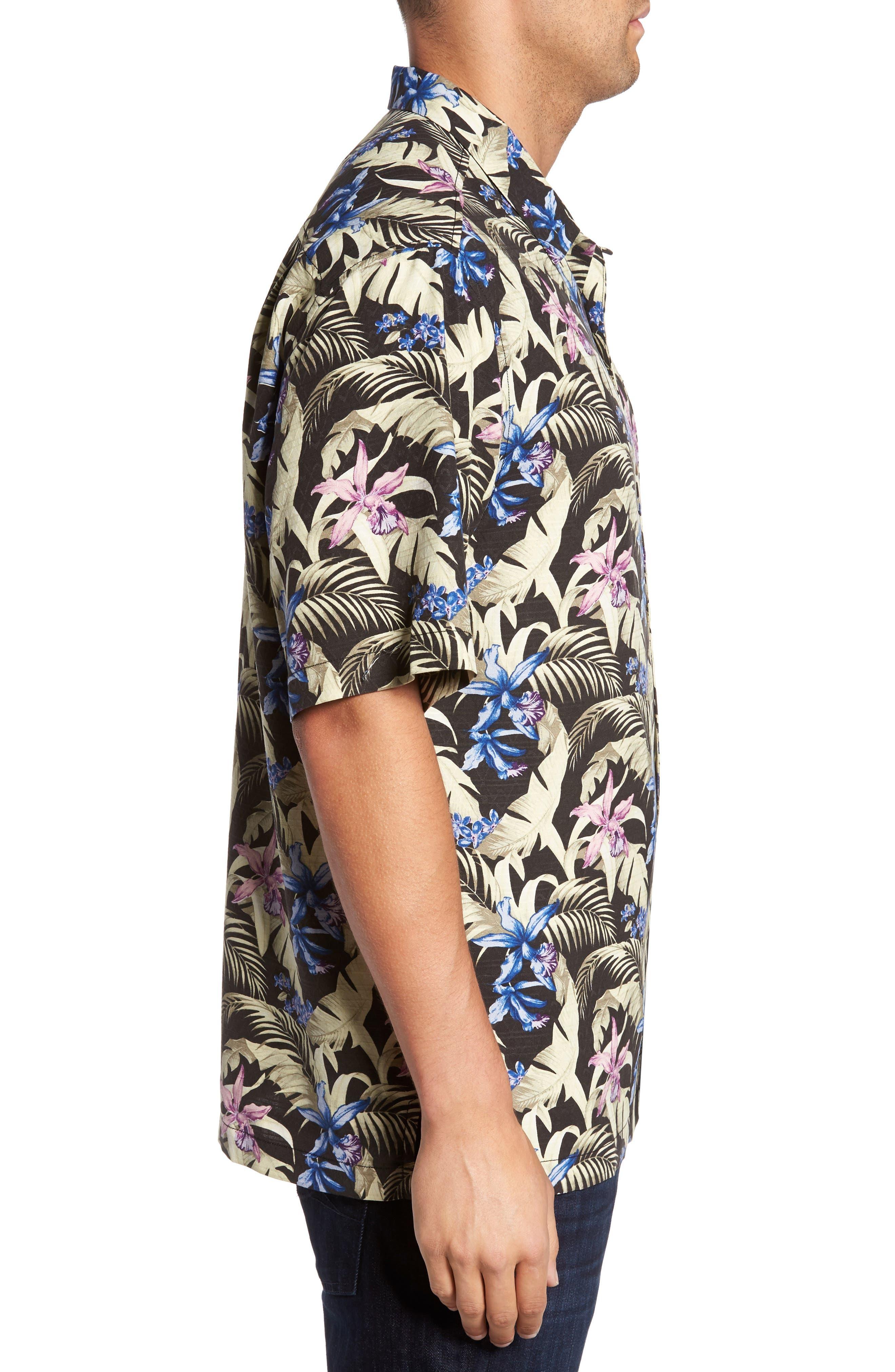 Alternate Image 3  - Tommy Bahama Menara Garden Standard Fit Silk Camp Shirt