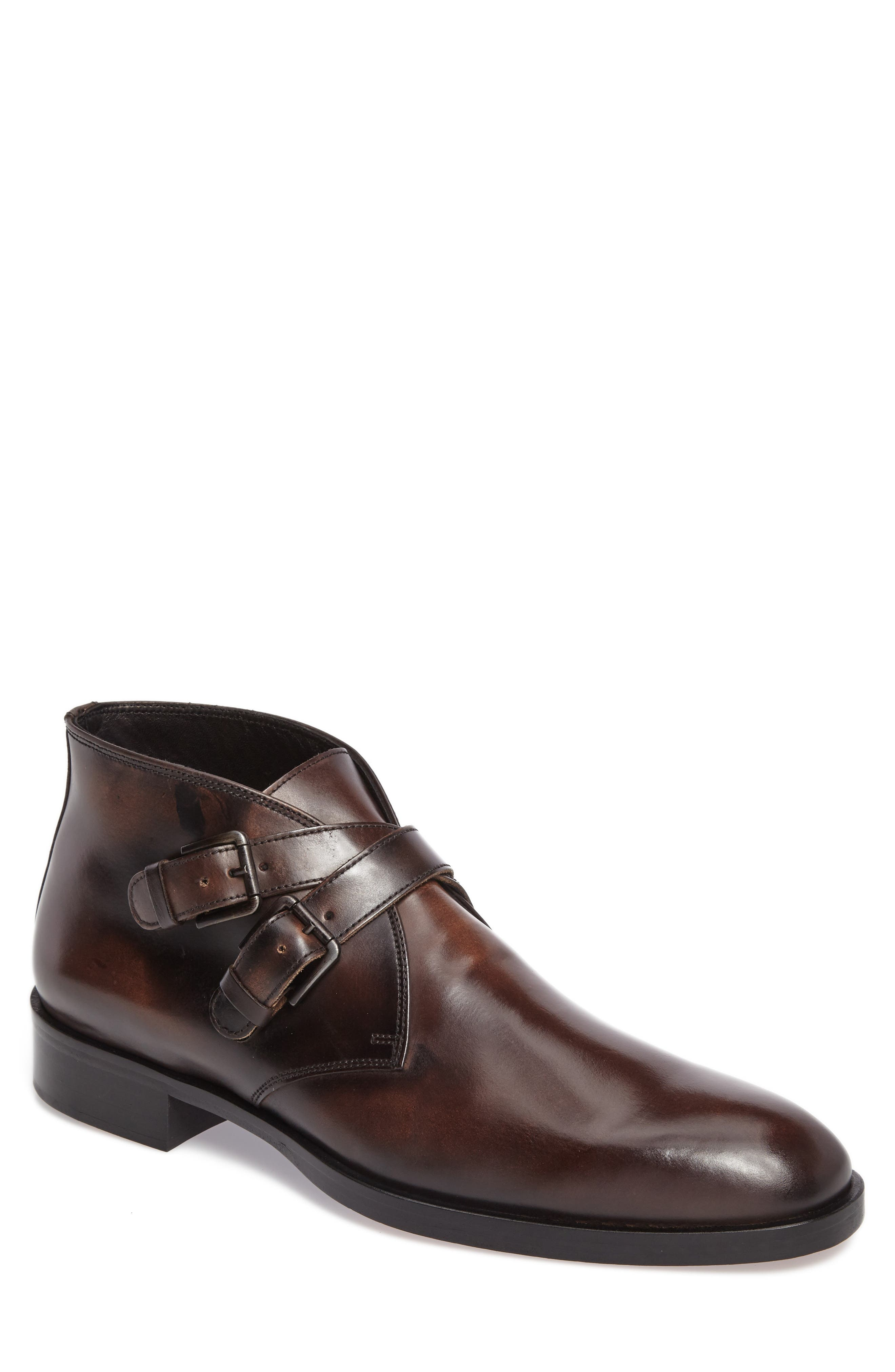 Donald J Pliner Zigor Double Monk Strap Boot (Men)