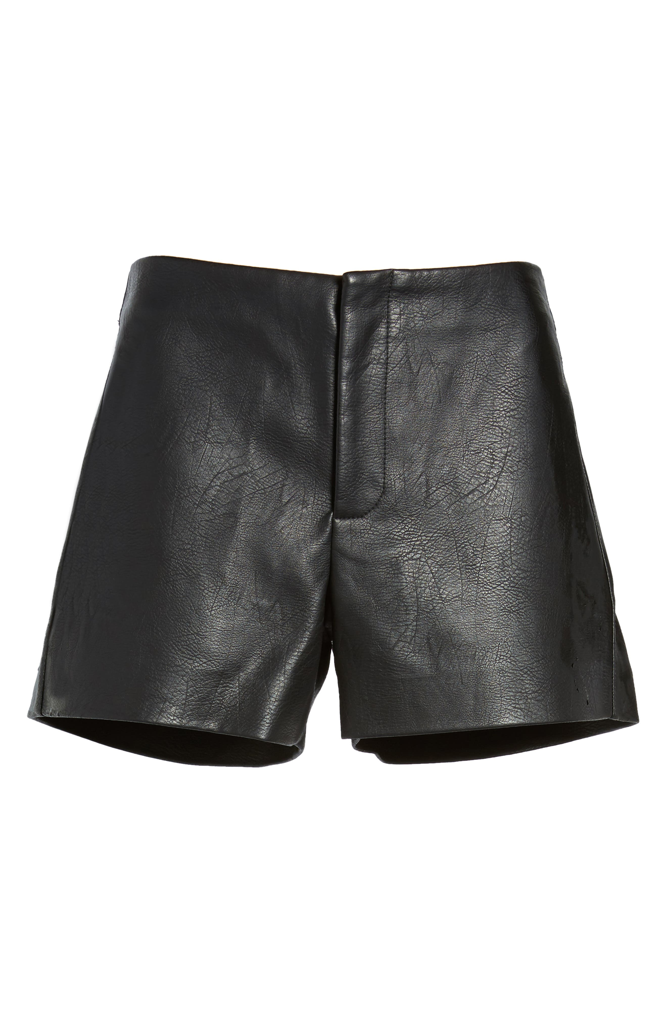 Alternate Image 6  - BLANKNYC Faux Leather Shorts