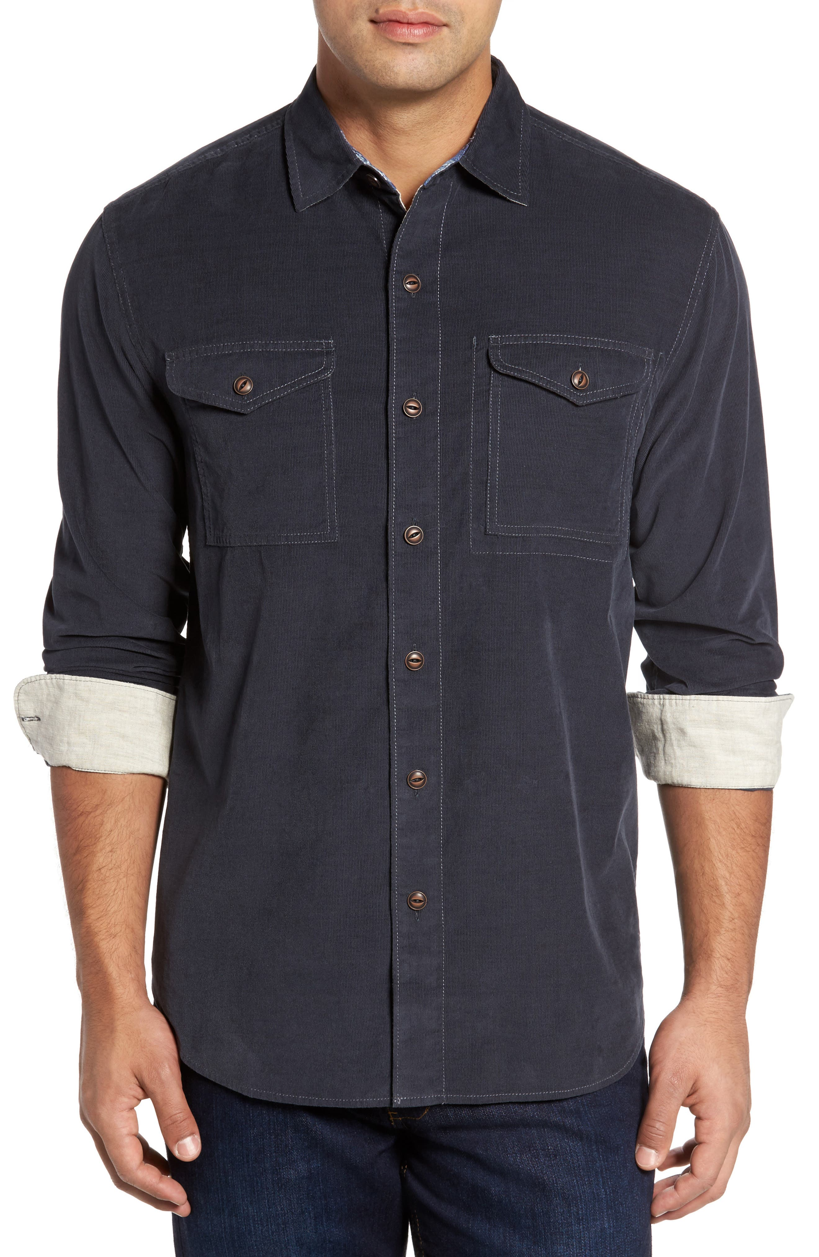 Main Image - Tommy Bahama Harrison Cord Standard Fit Shirt