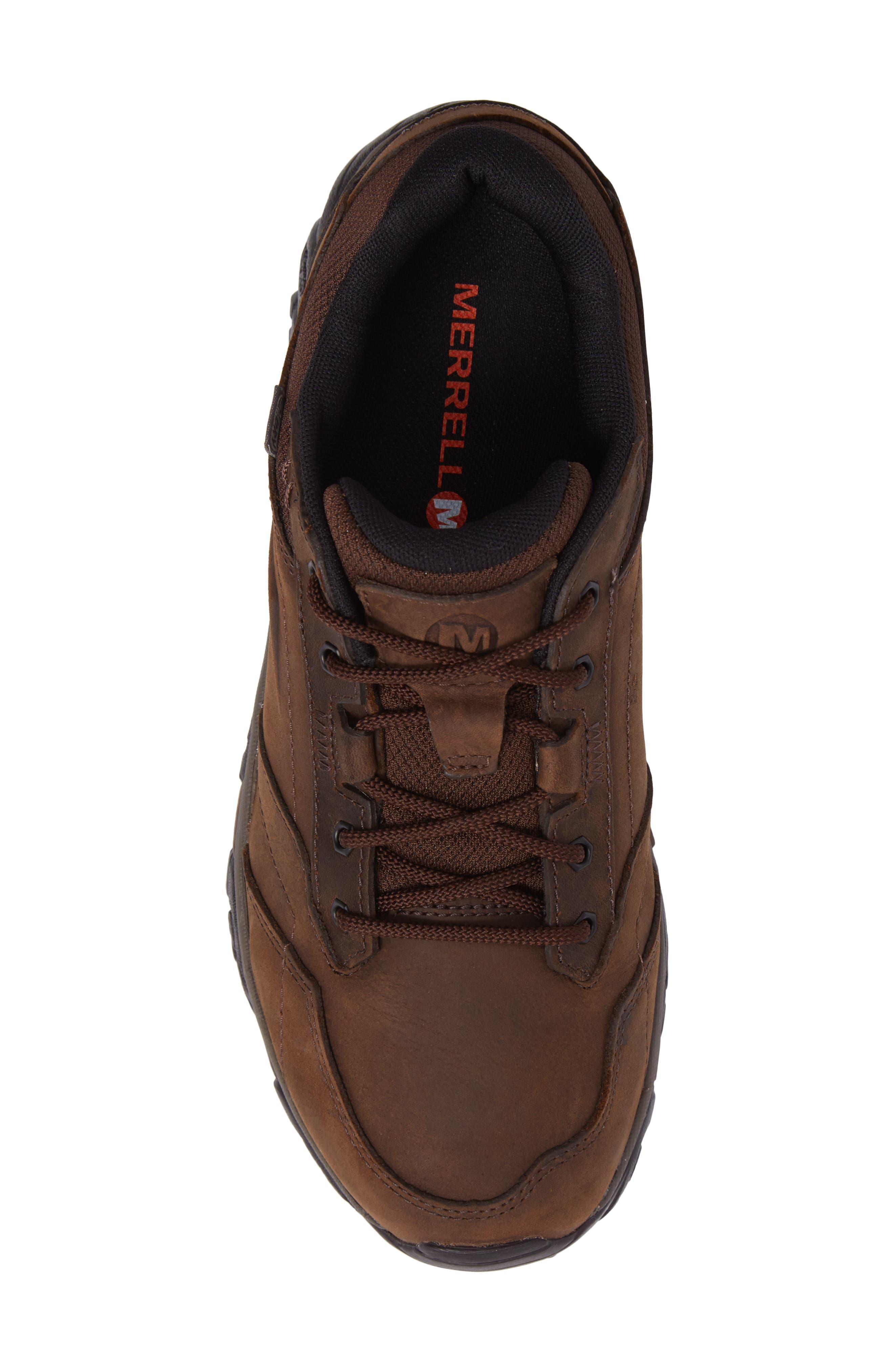 Moab Adventure Hiking Shoe,                             Alternate thumbnail 5, color,                             Dark Earth Nubuck Leather