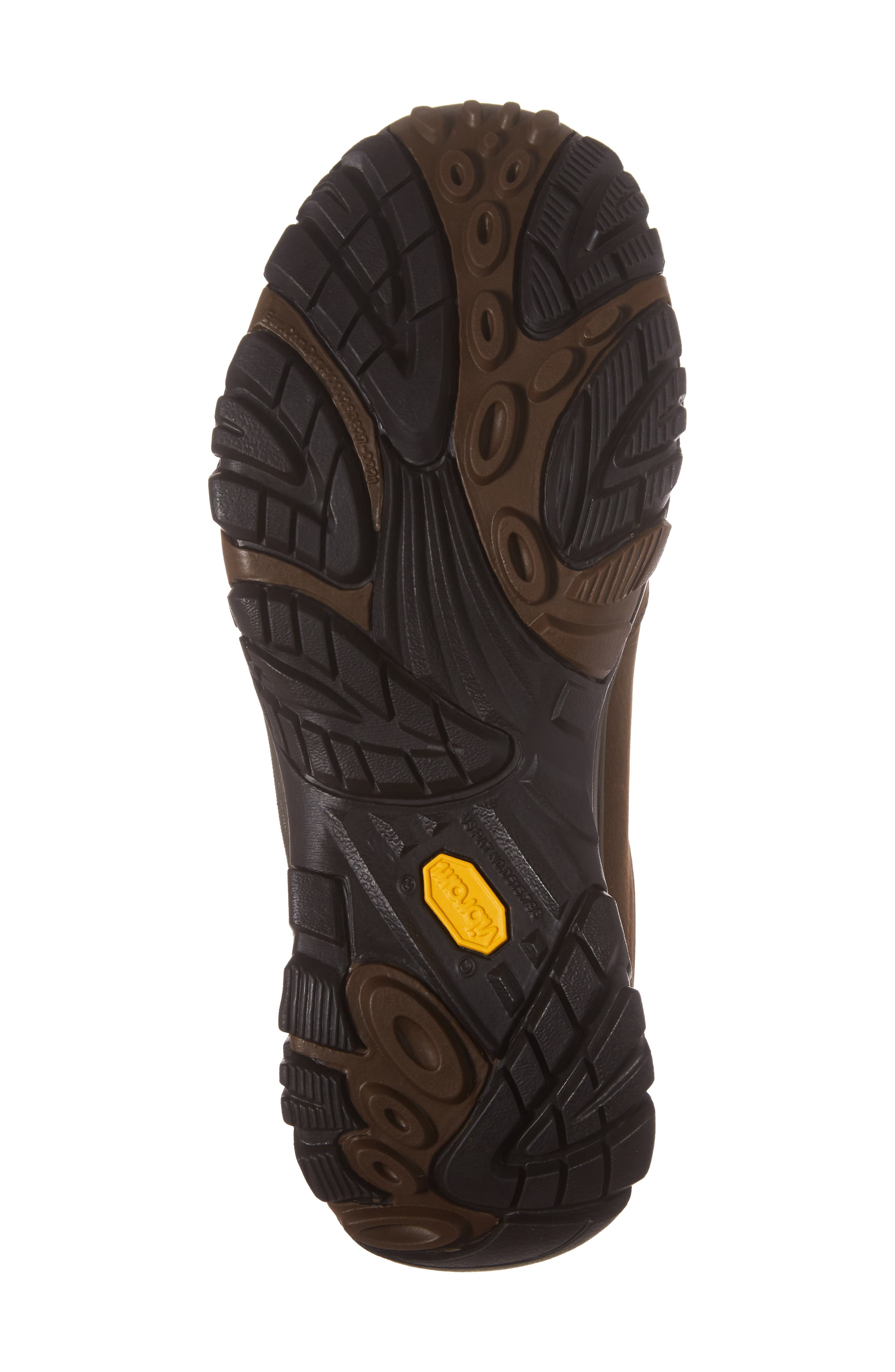 Moab Adventure Hiking Shoe,                             Alternate thumbnail 6, color,                             Dark Earth Nubuck Leather