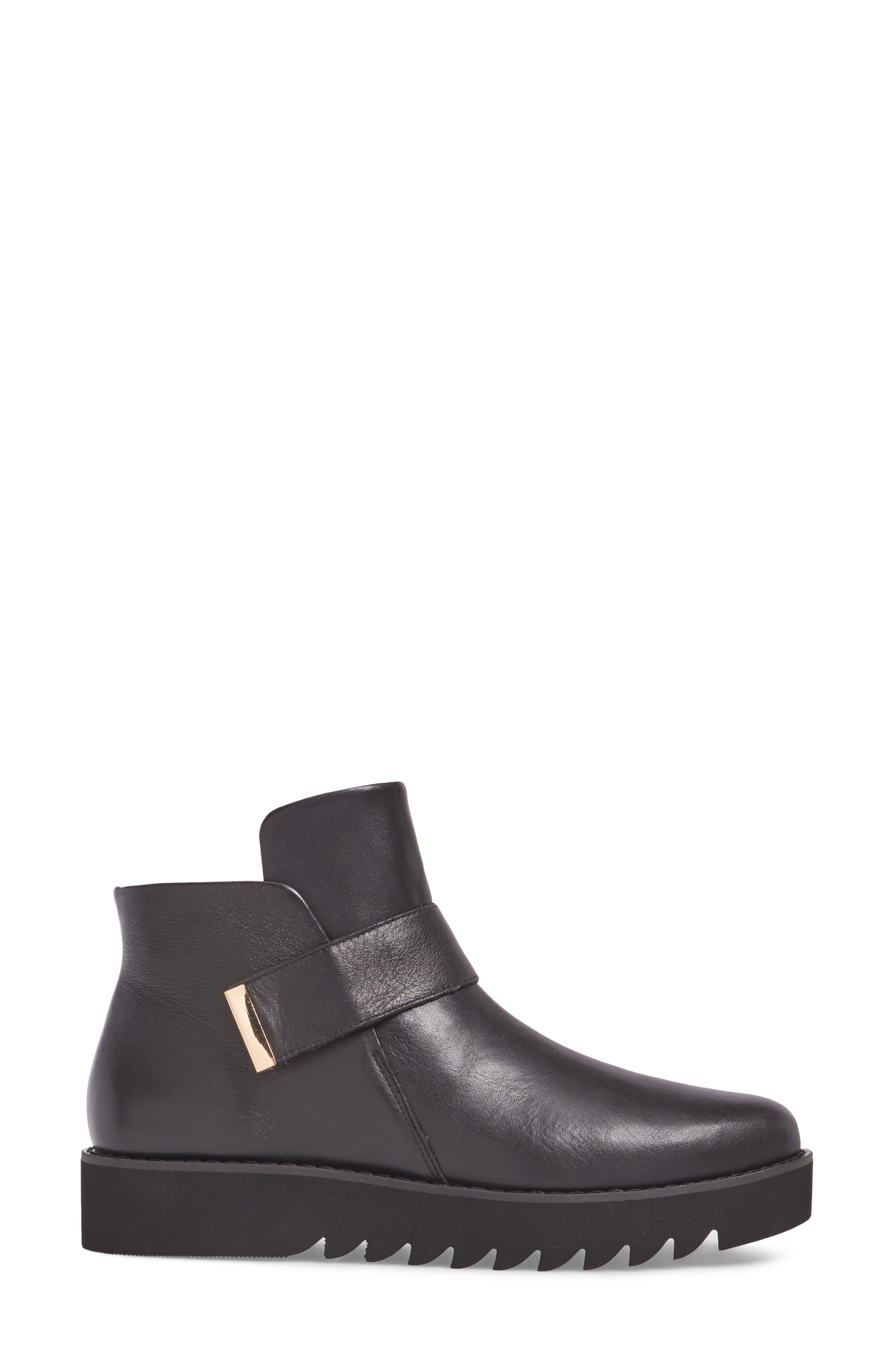 Kris Boot,                             Alternate thumbnail 3, color,                             Black Leather