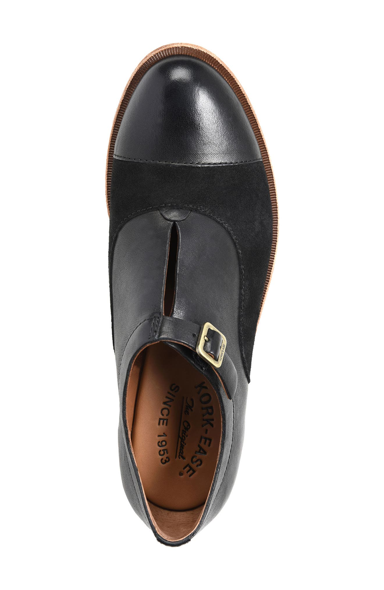'Niseda' Oxford,                             Alternate thumbnail 9, color,                             Black Leather Suede Combo