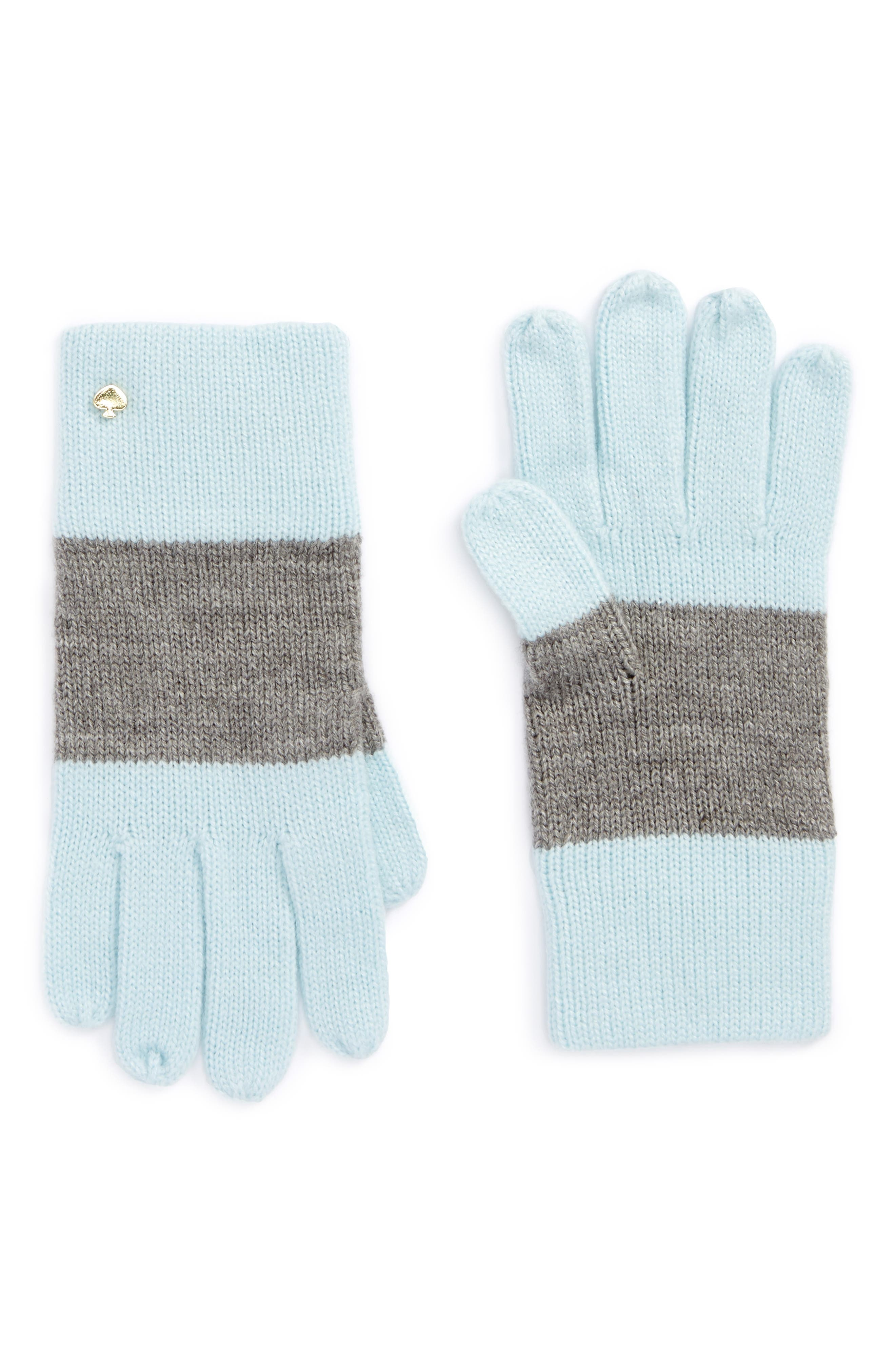 kate spade new york colorblock knit gloves