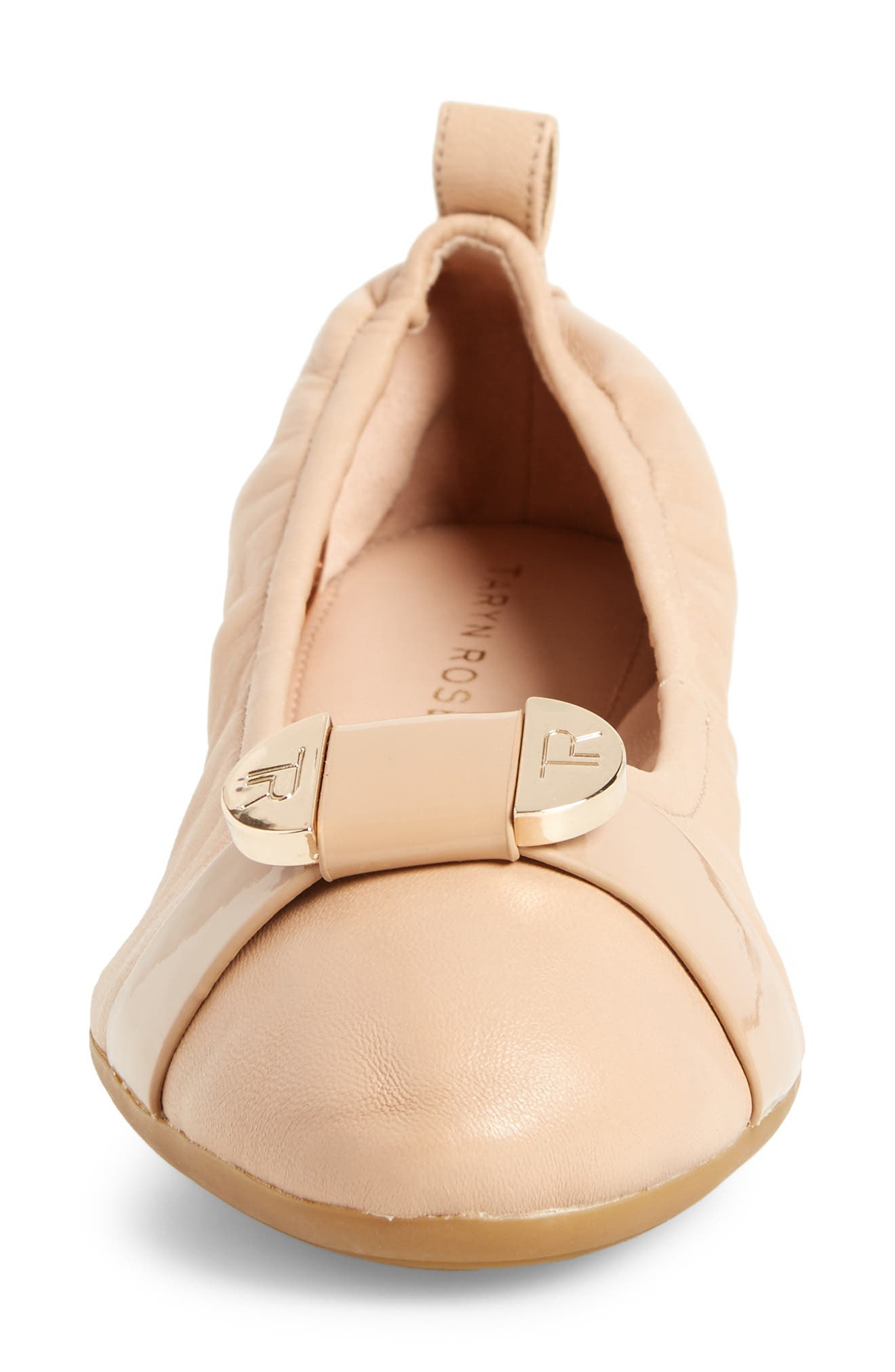 Abriana Ballet Flat,                             Alternate thumbnail 2, color,                             Nude Leather