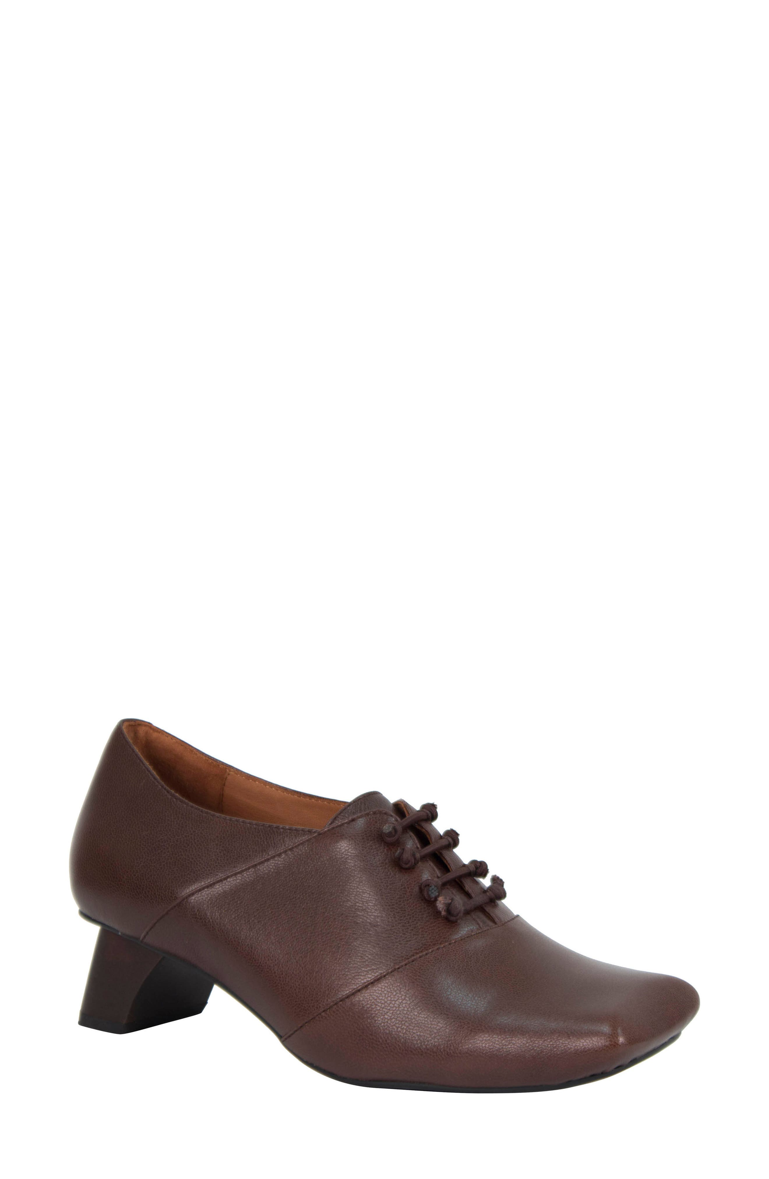Winifred Lace-Up Bootie,                         Main,                         color, Moro Leather