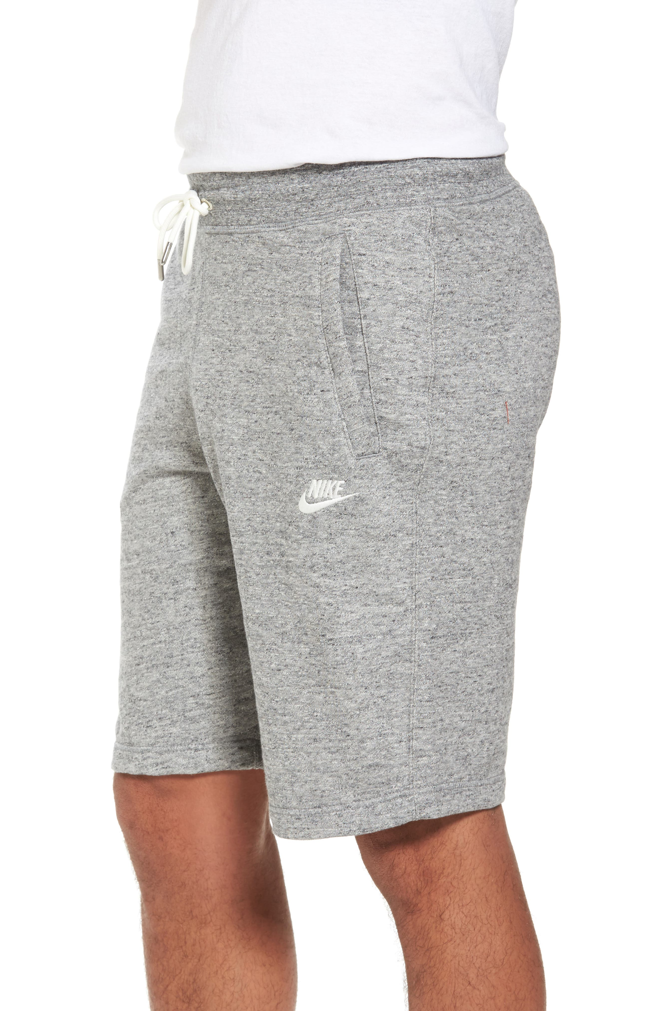 Legacy Knit Shorts,                             Alternate thumbnail 3, color,                             Carbon Heather/ Sail