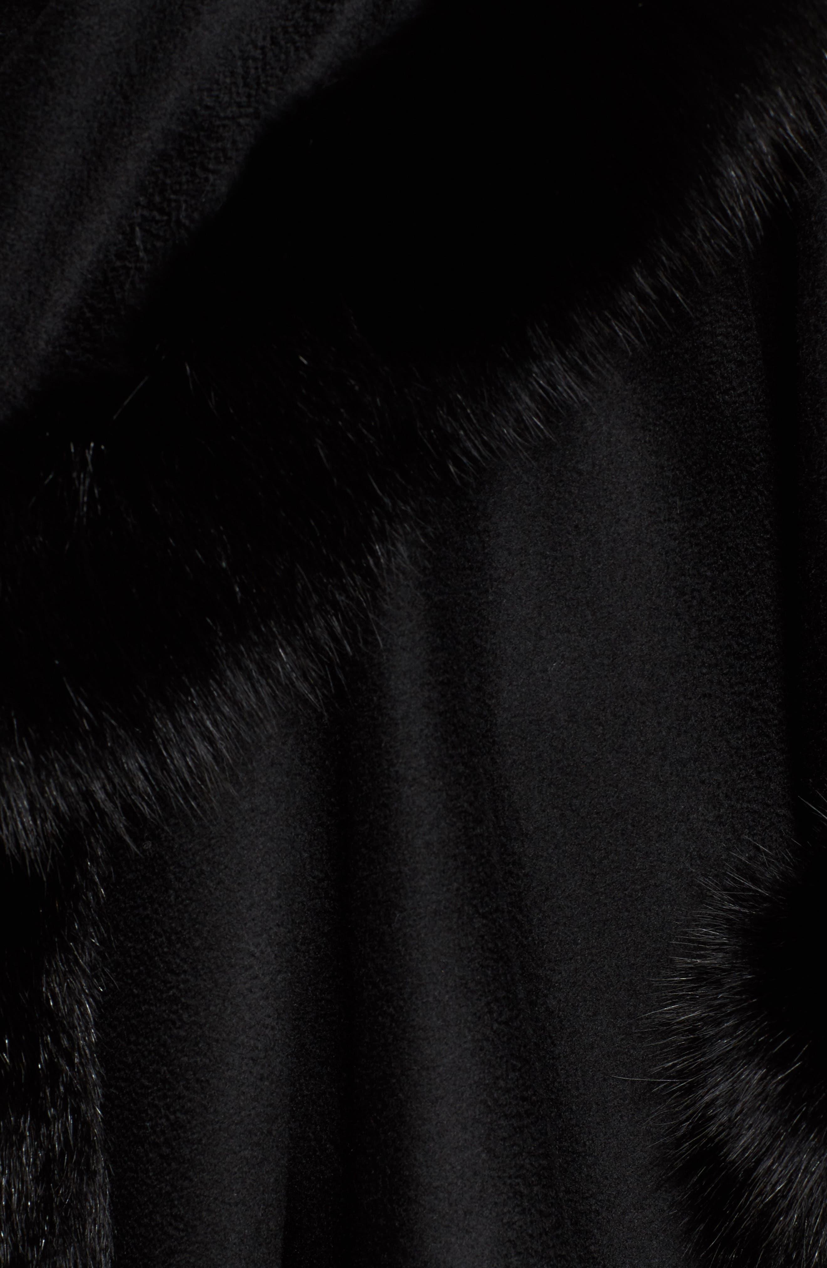 Alternate Image 5  - Sofia Cashmere Genuine Fox Fur Trim Cape