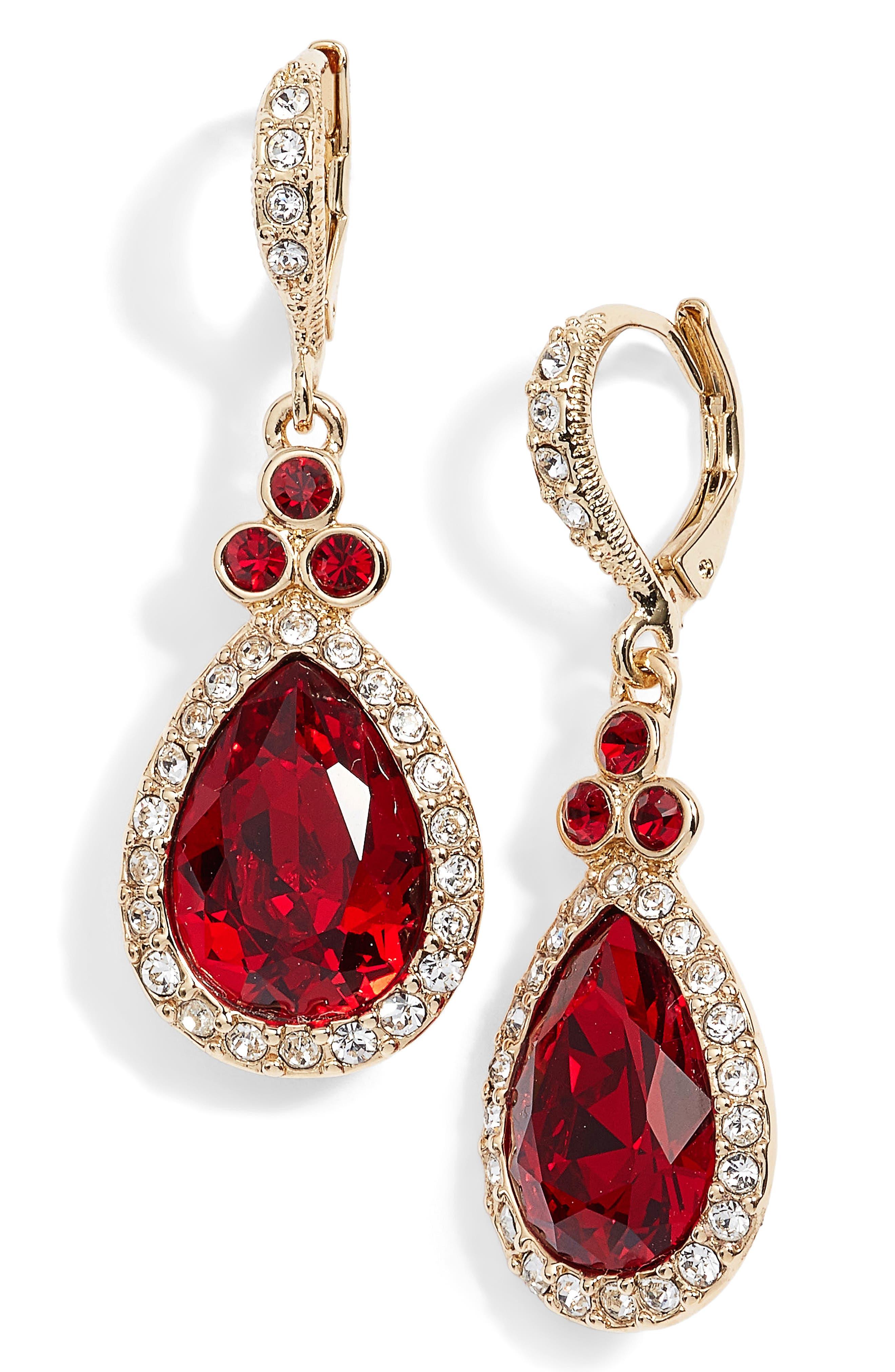 Givenchy Pavé Pear Drop Earrings