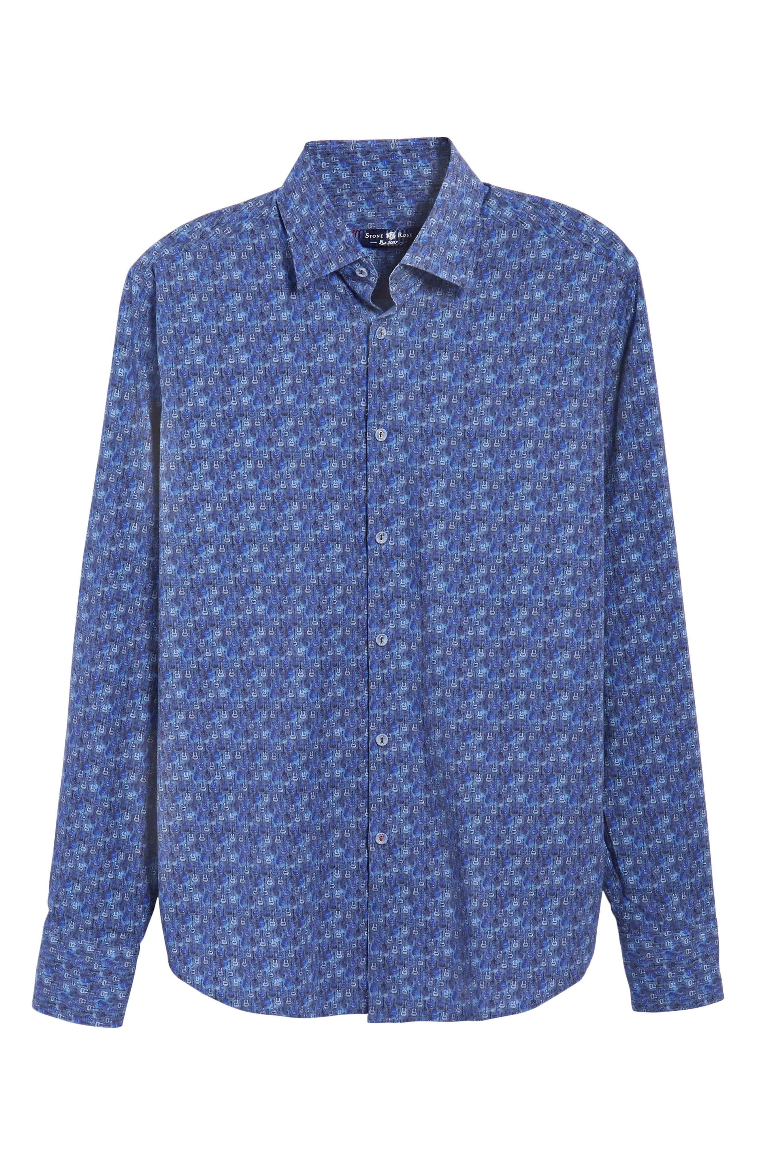 Alternate Image 6  - Stone Rose Slim Fit Guitare FX Sport Shirt