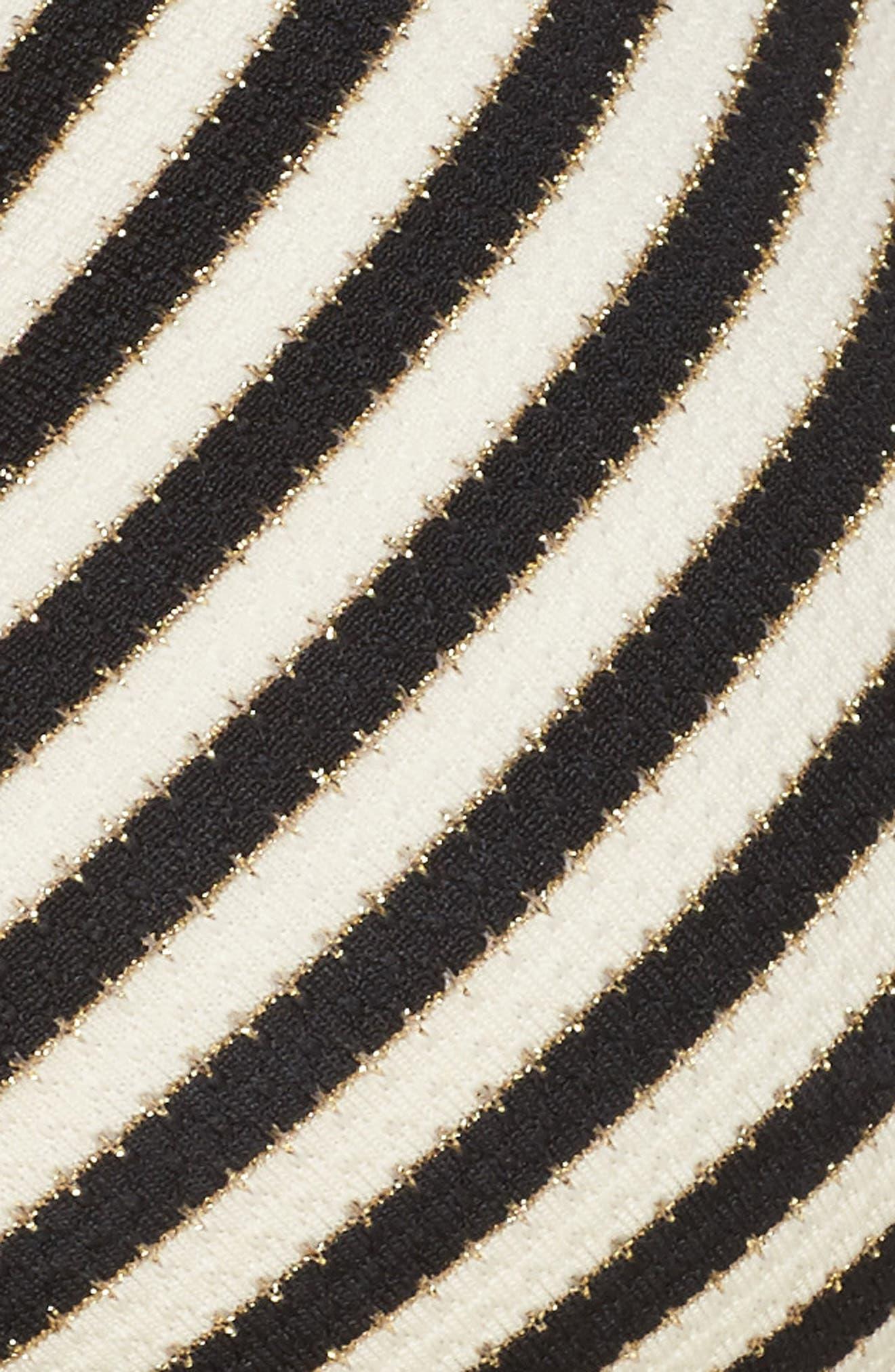 Carmen Stripe Halter Bikini Top,                             Alternate thumbnail 8, color,                             Black Ivory