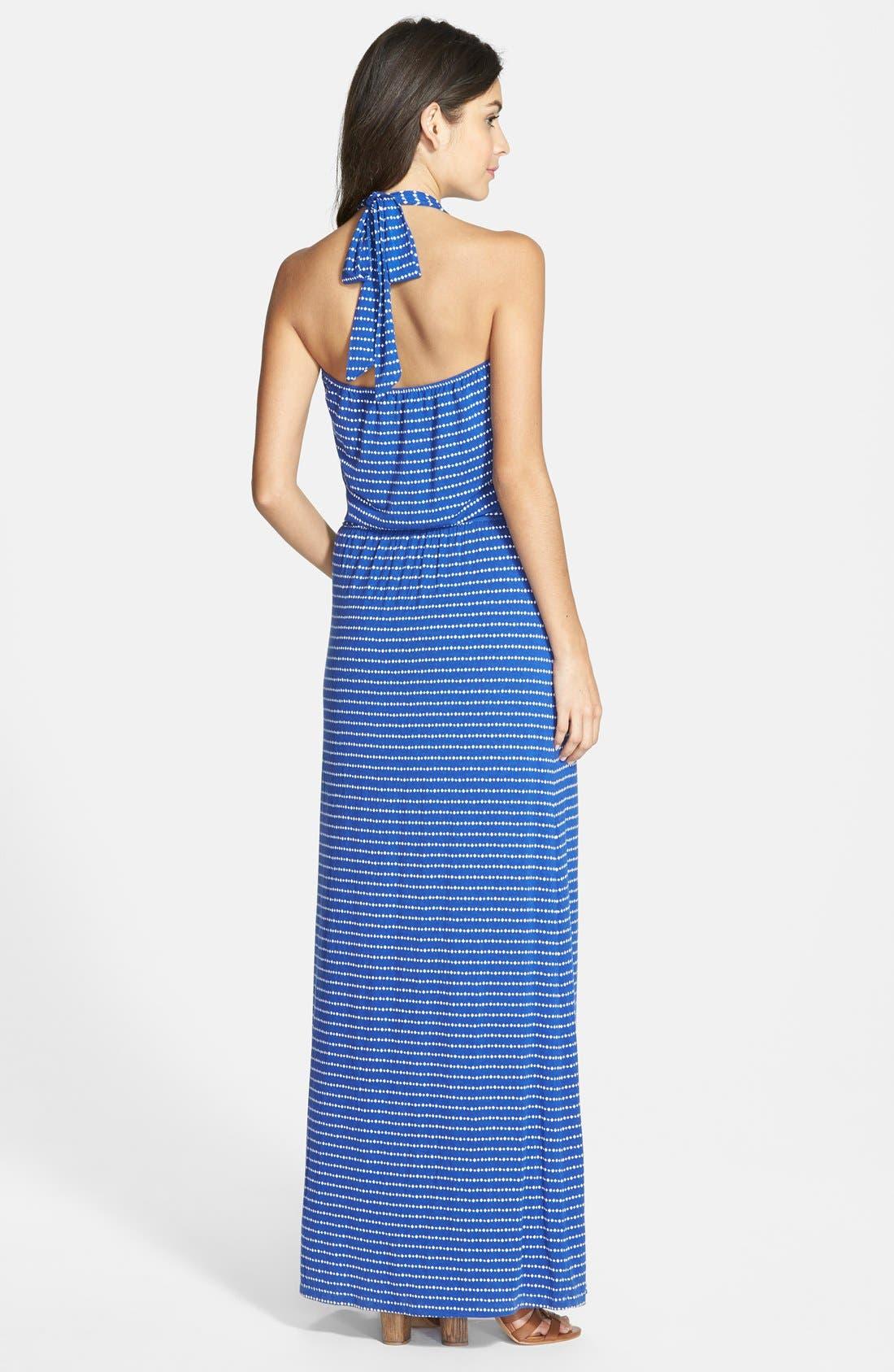 Alternate Image 2  - Caslon® Stretch Knit Halter Maxi Dress