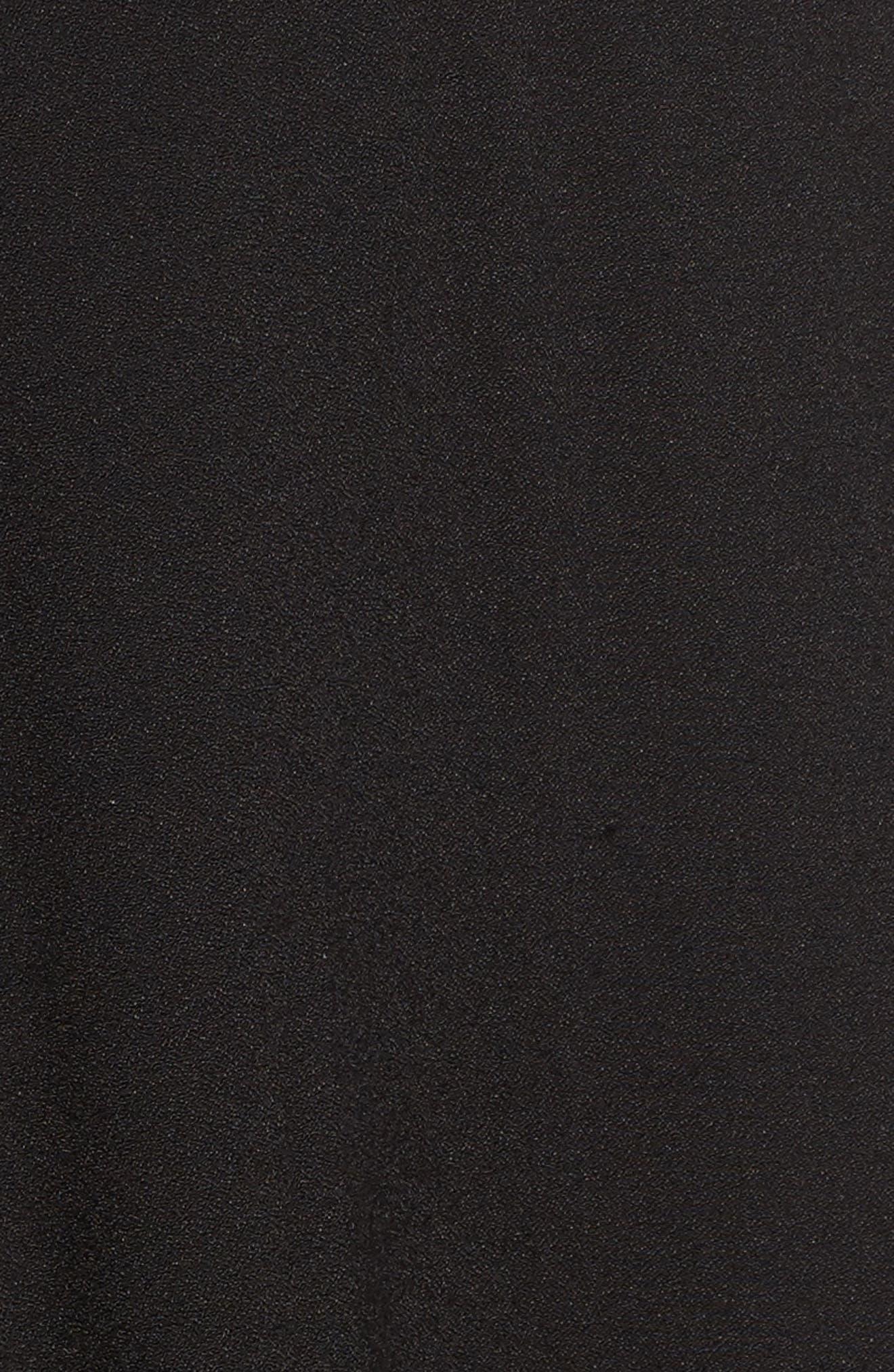 Stevie Fit & Flare Minidress,                             Alternate thumbnail 5, color,                             Noir