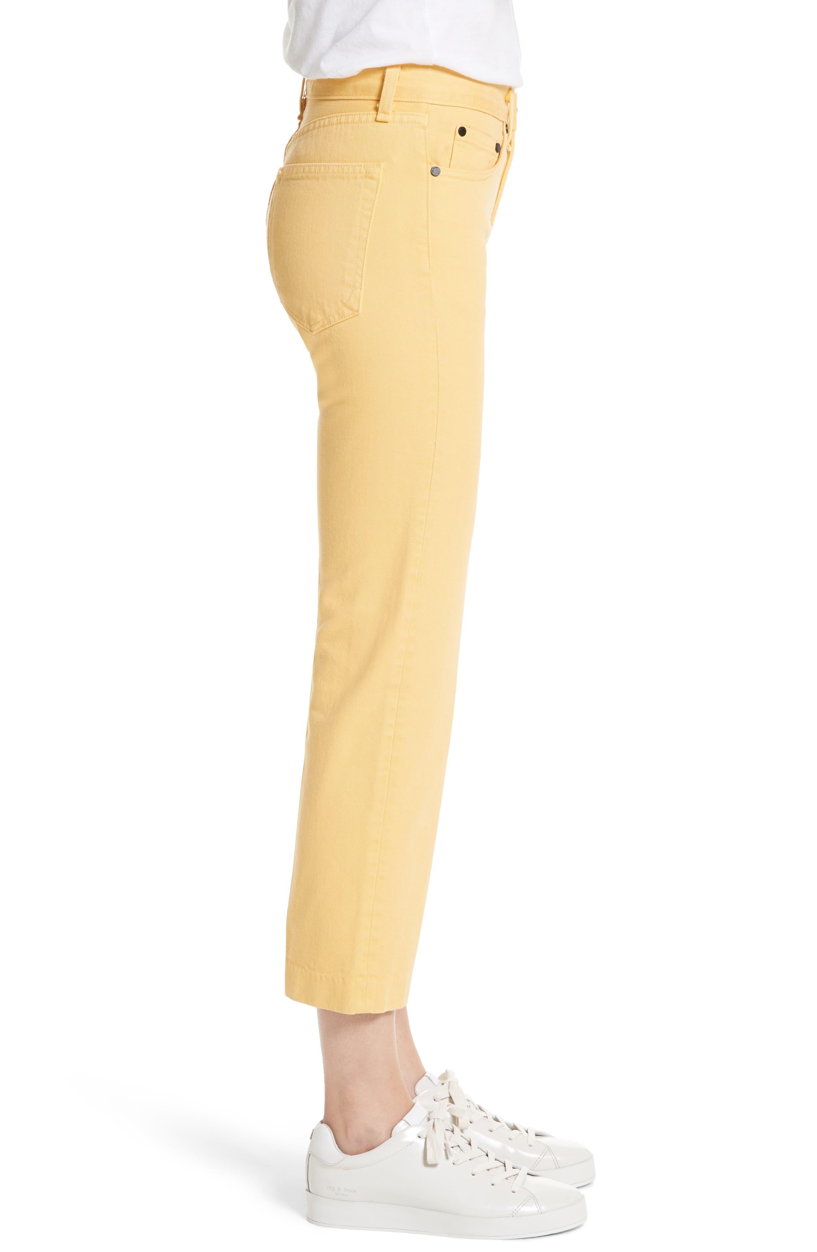 Alternate Image 3  - rag & bone/JEAN Straight Leg Crop Jeans (Sunrise)