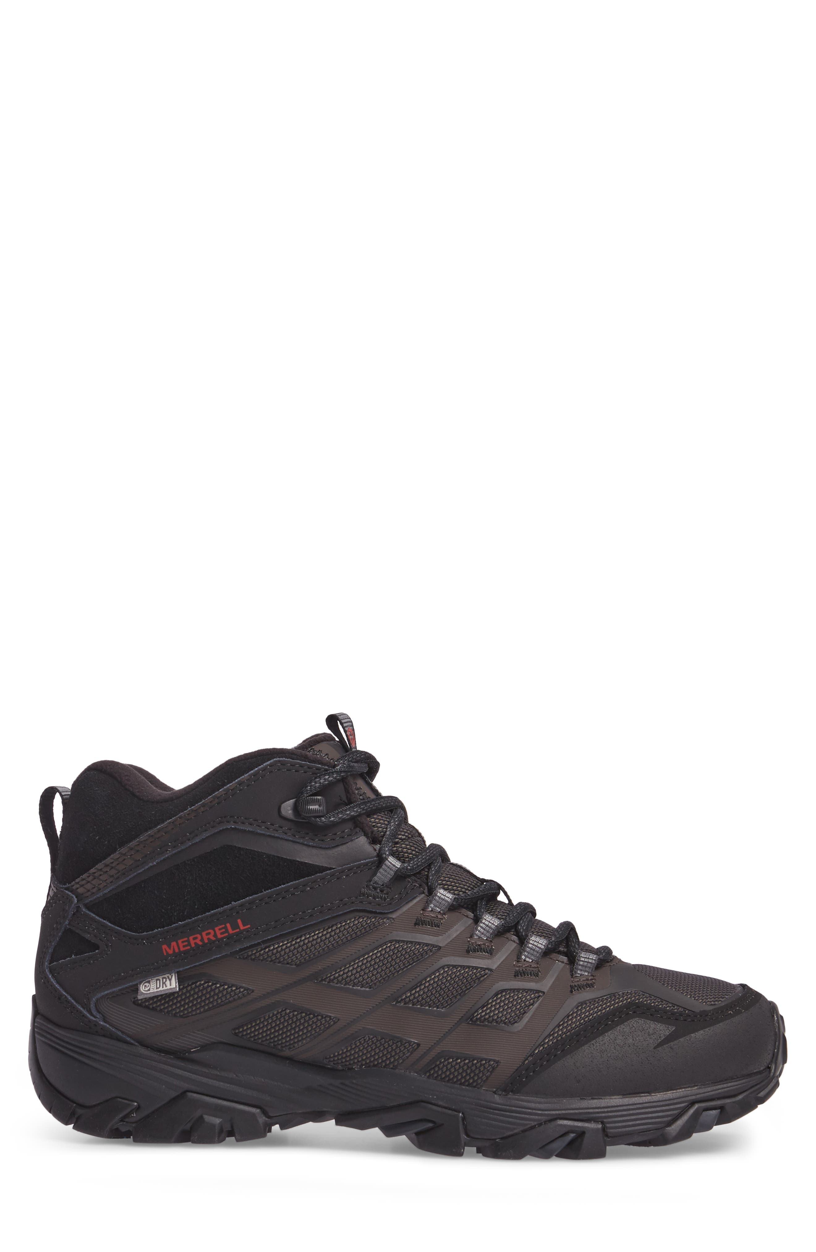 Moab FST Ice Thermo Waterproof Hiking Shoe,                             Alternate thumbnail 3, color,                             Black Fabric