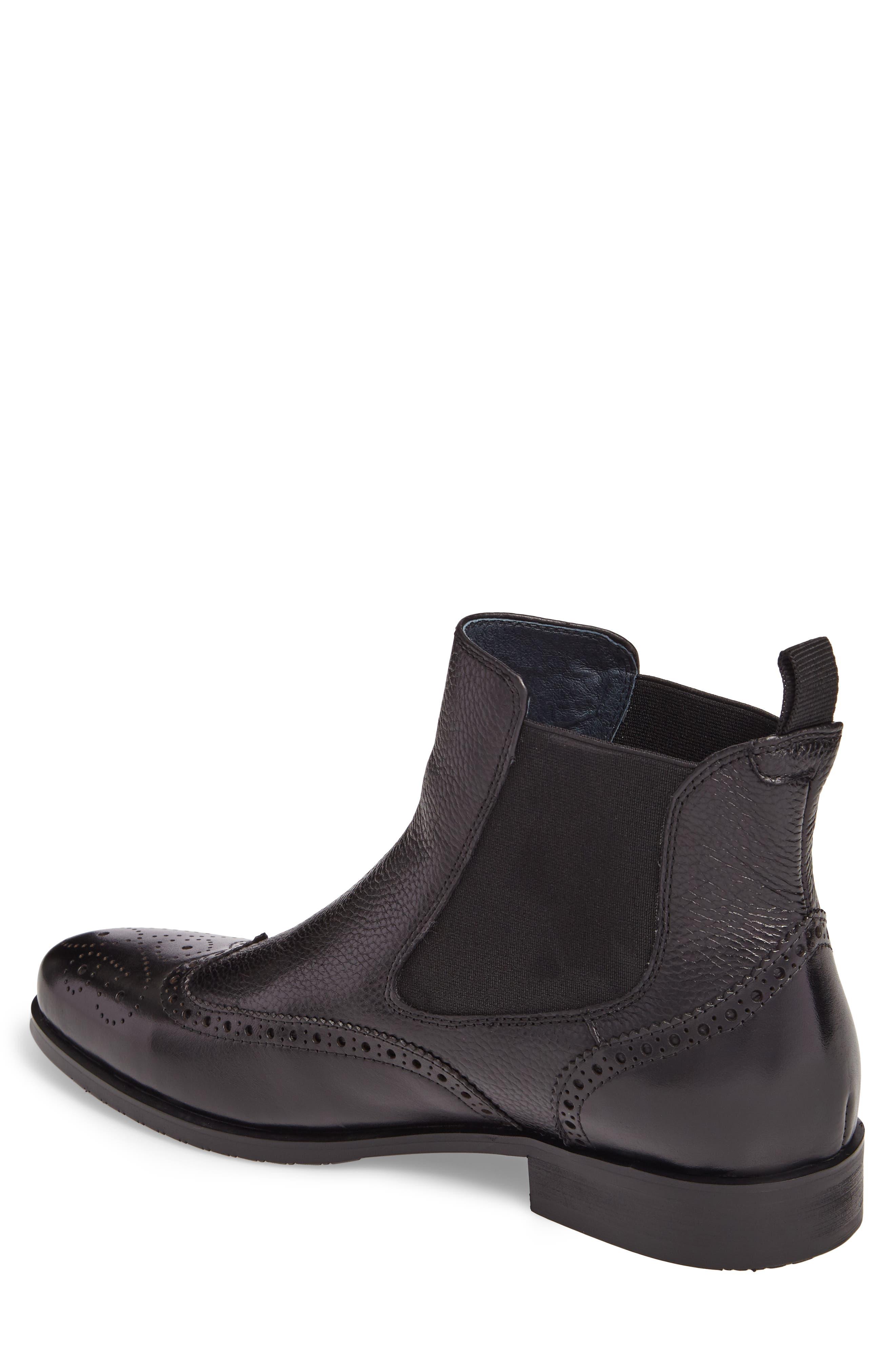 Hamel Chelsea Boot,                             Alternate thumbnail 2, color,                             Black Leather