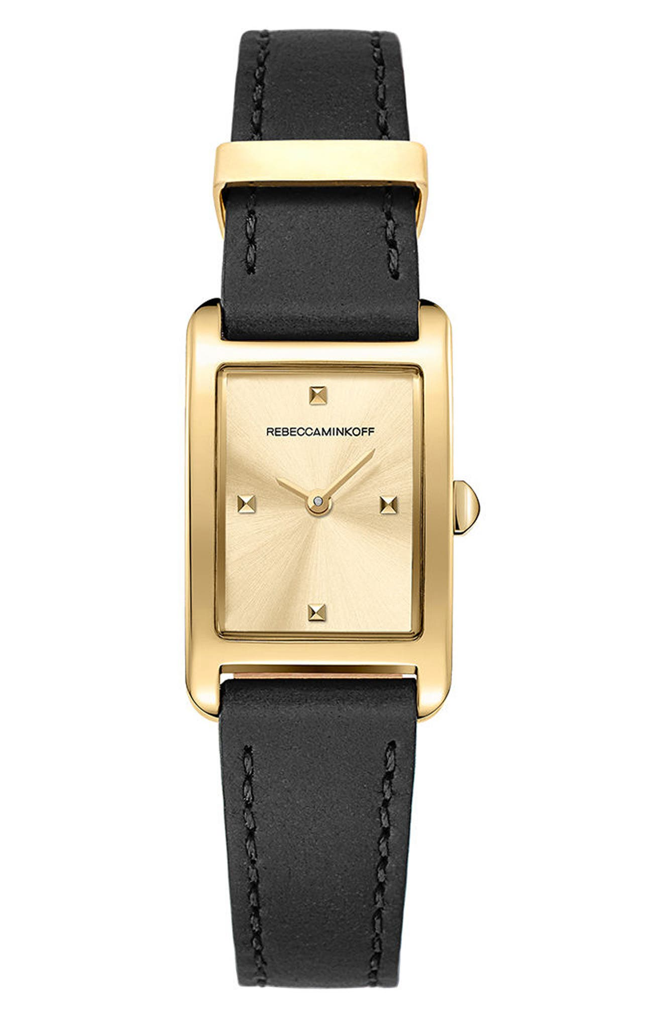 Main Image - Rebecca Minkoff Moment Leather Strap Watch, 19mm x 30mm