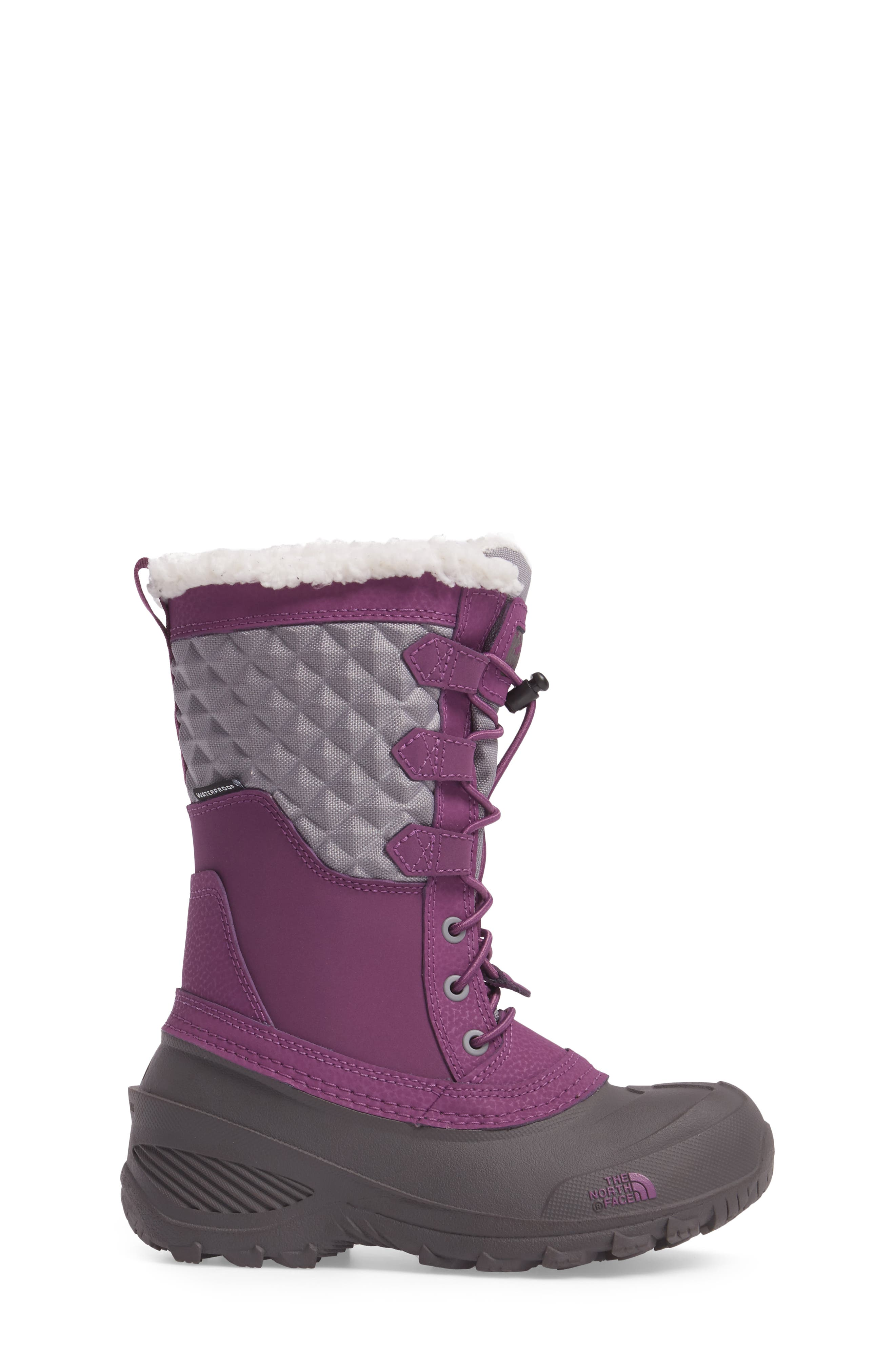 Alternate Image 3  - The North Face Shellista Lace III Faux Fur Waterproof Boot (Toddler, Little Kid & Big Kid)
