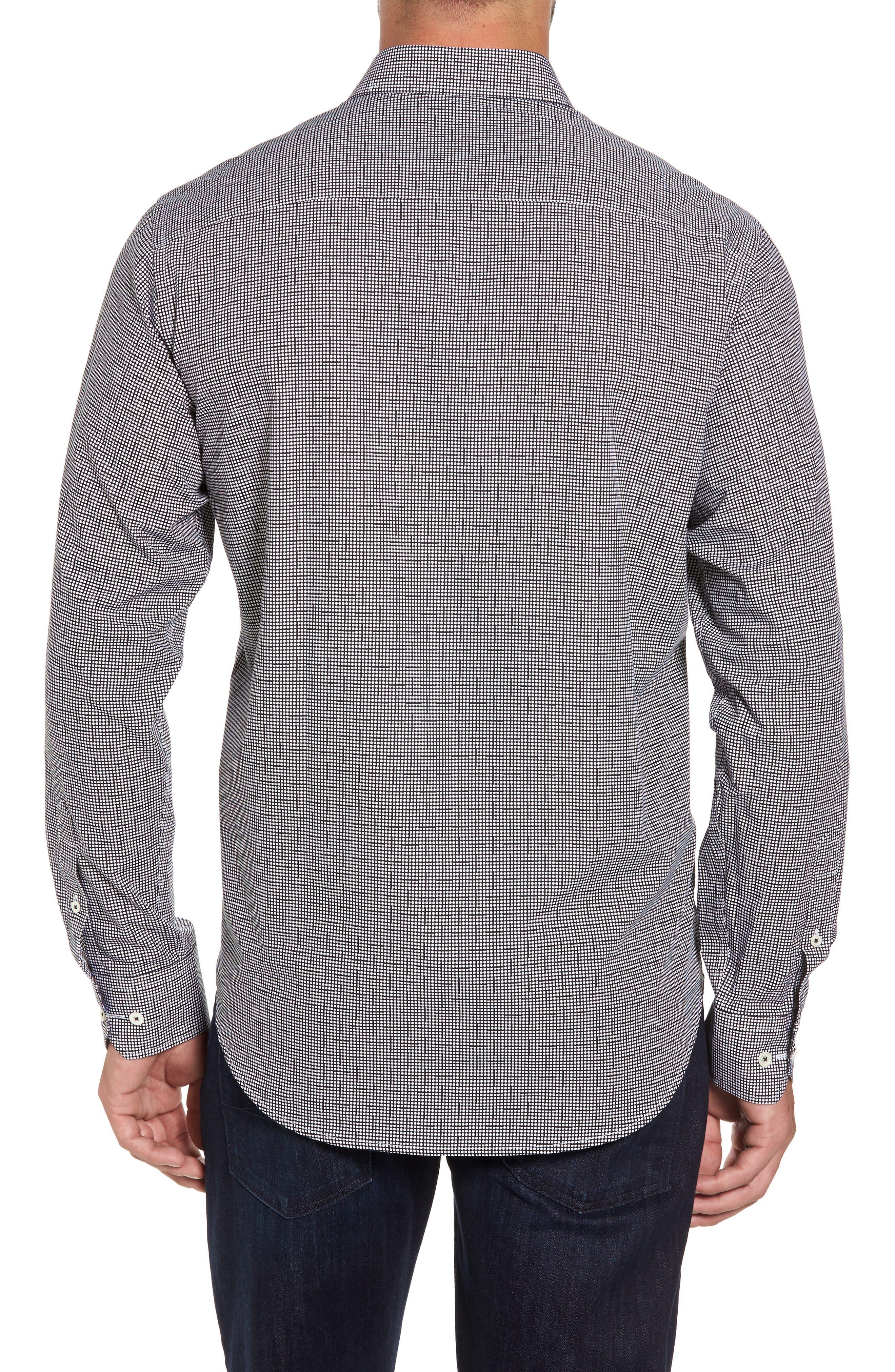 Alternate Image 2  - Bugatchi Classic Fit Dot Print Sport Shirt