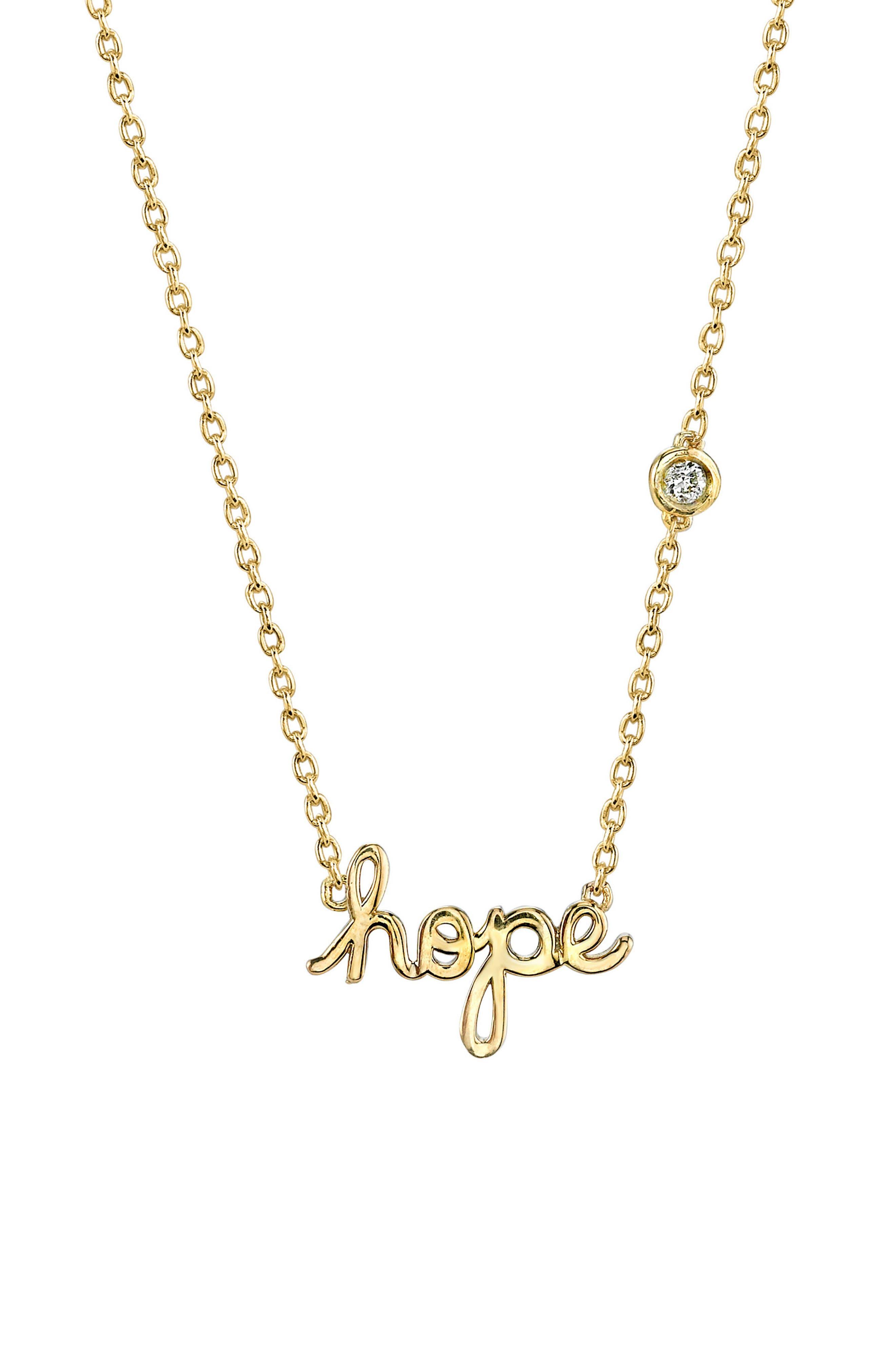 Alternate Image 1 Selected - Shy by SE Hope Diamond Pendant Necklace