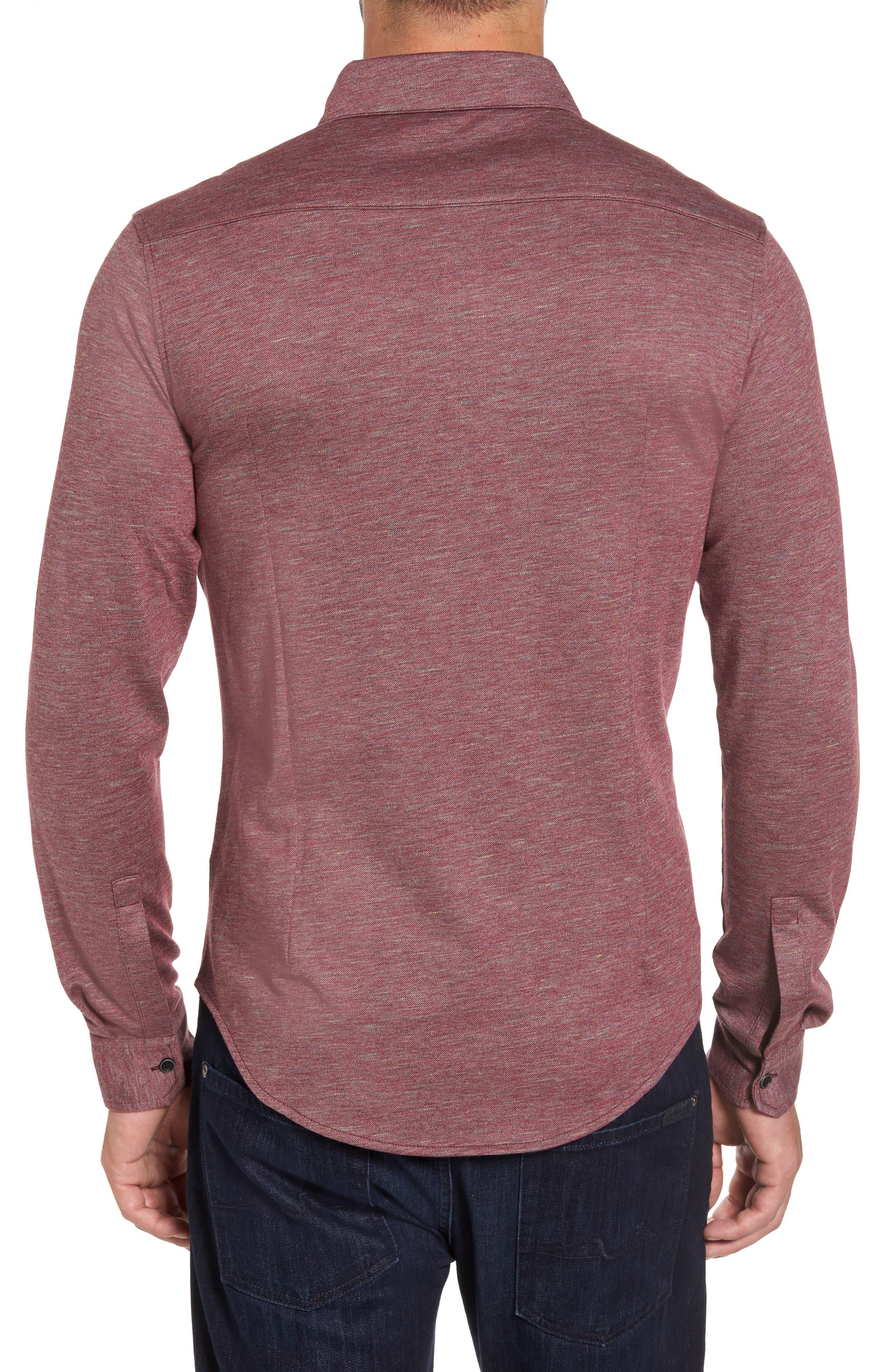 Alternate Image 2  - Bugatchi Regular Fit Piqué Knit Sport Shirt