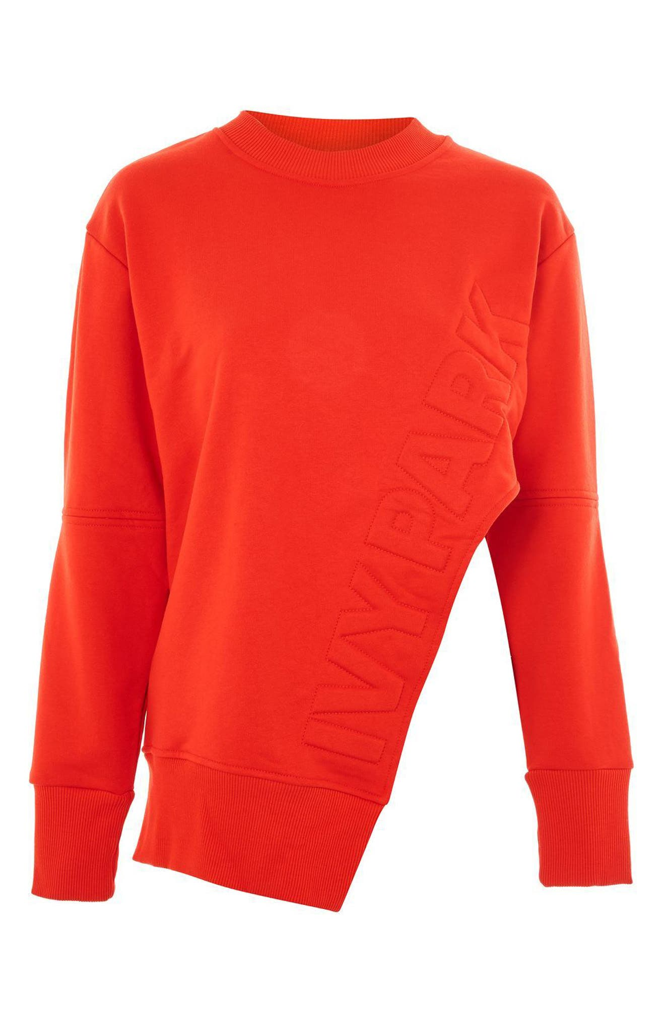 Alternate Image 4  - IVY PARK® Logo Embossed Sliced Sweatshirt