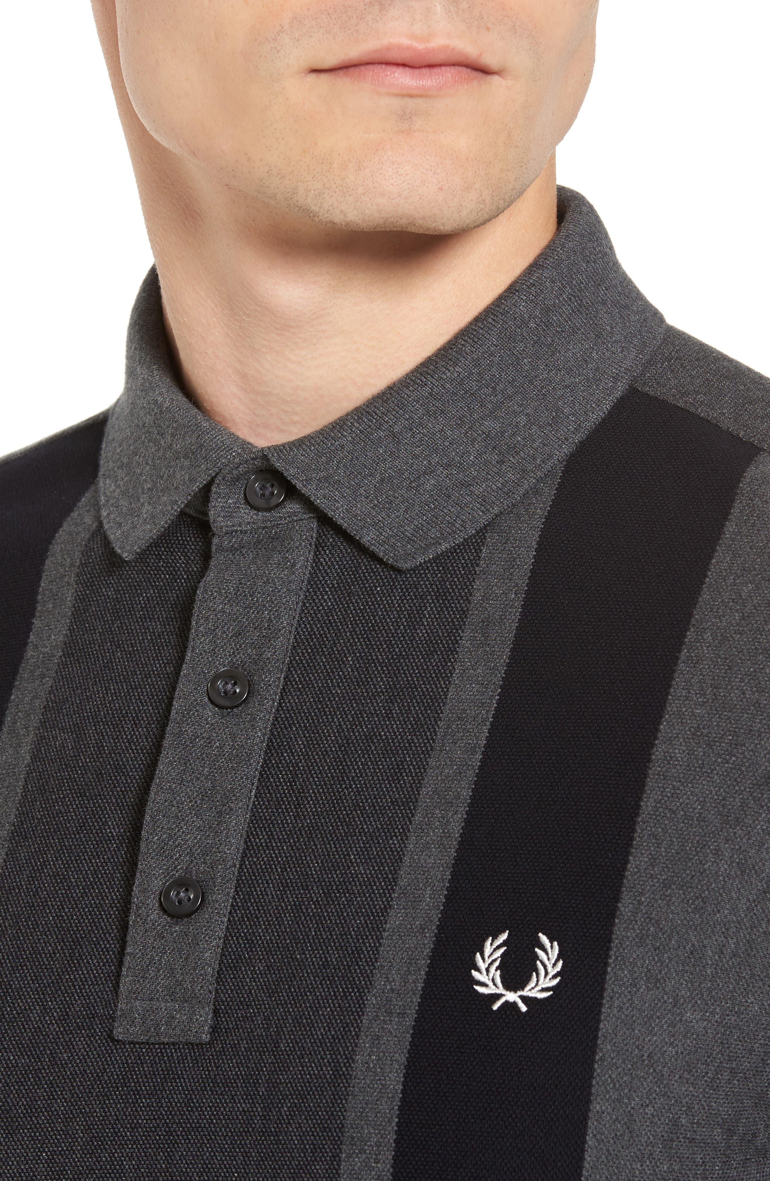 Alternate Image 4  - Fred Perry Stripe Piqué Polo