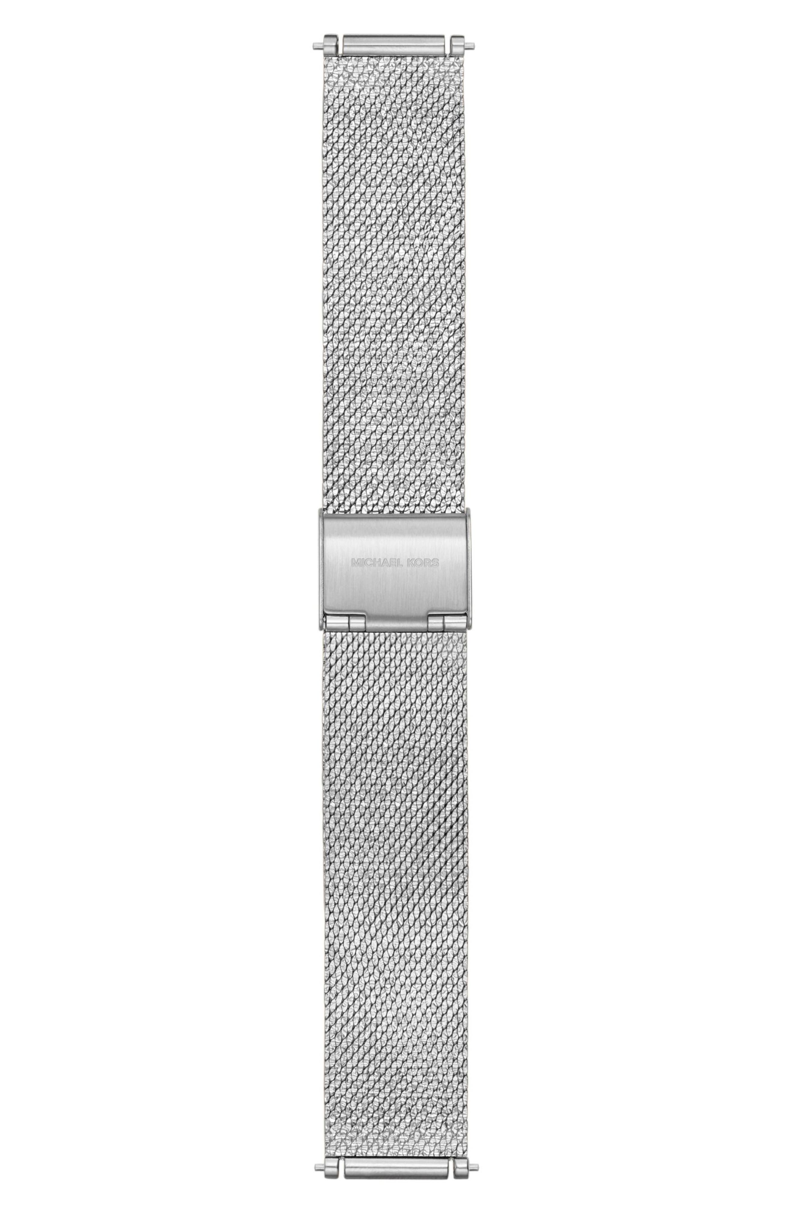 Sofie 18mm Mesh Watch Strap,                         Main,                         color, Silver