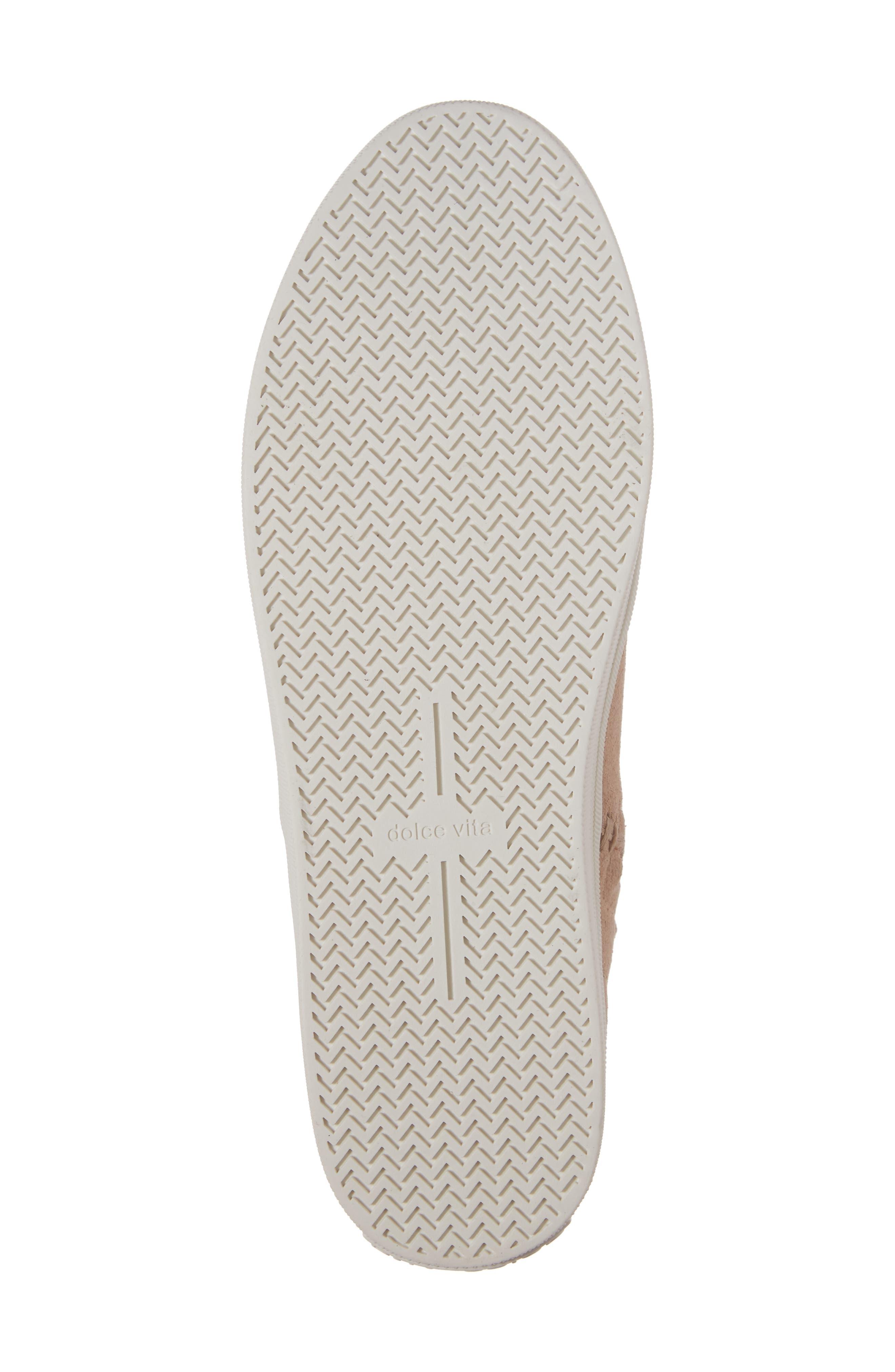 Tate Slip-On Sneaker,                             Alternate thumbnail 6, color,                             Blush Suede