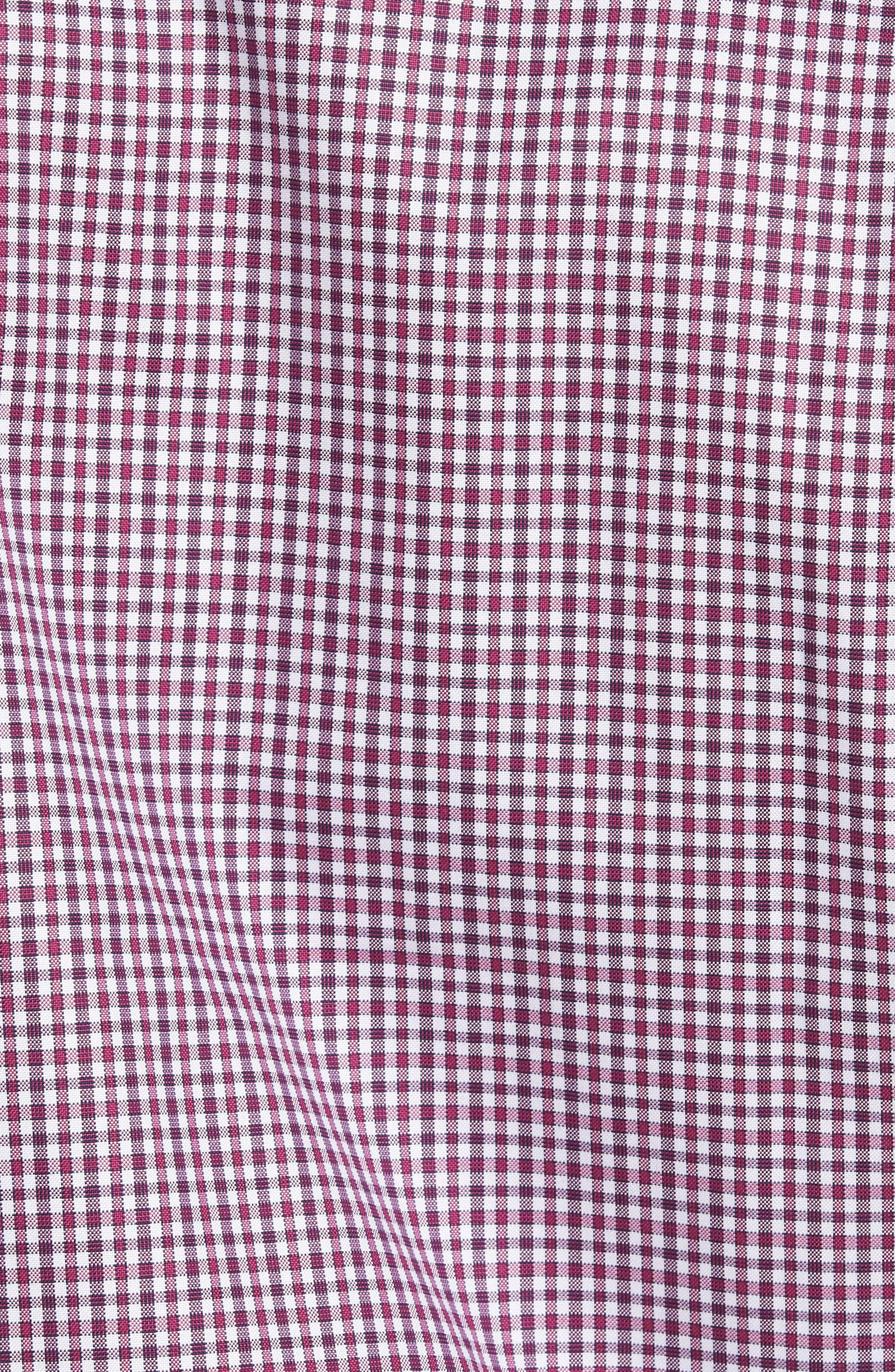 Plaid Regular Fit Sport Shirt,                             Alternate thumbnail 5, color,                             Berry