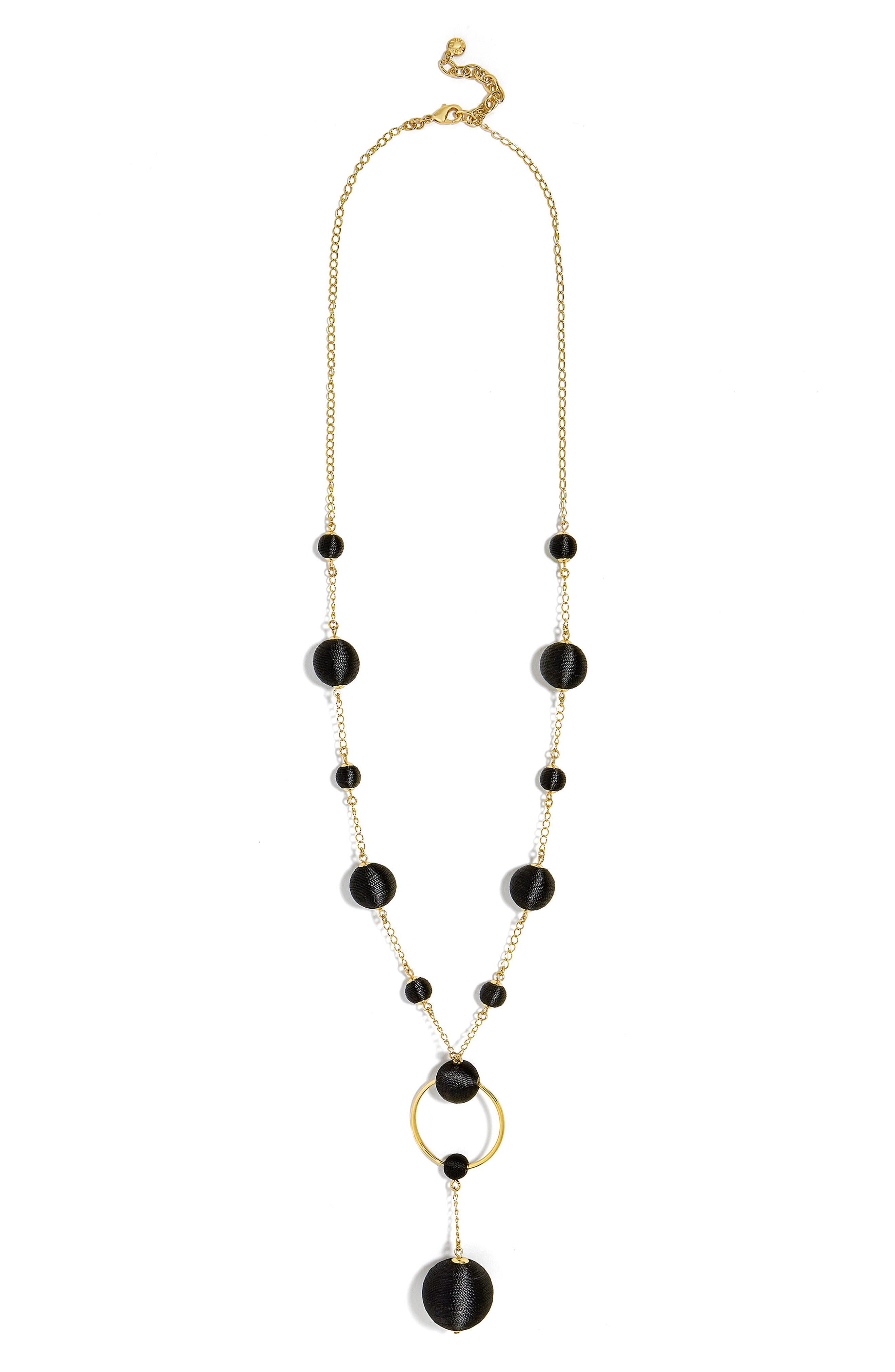 Miranda Y Necklace,                         Main,                         color, Black