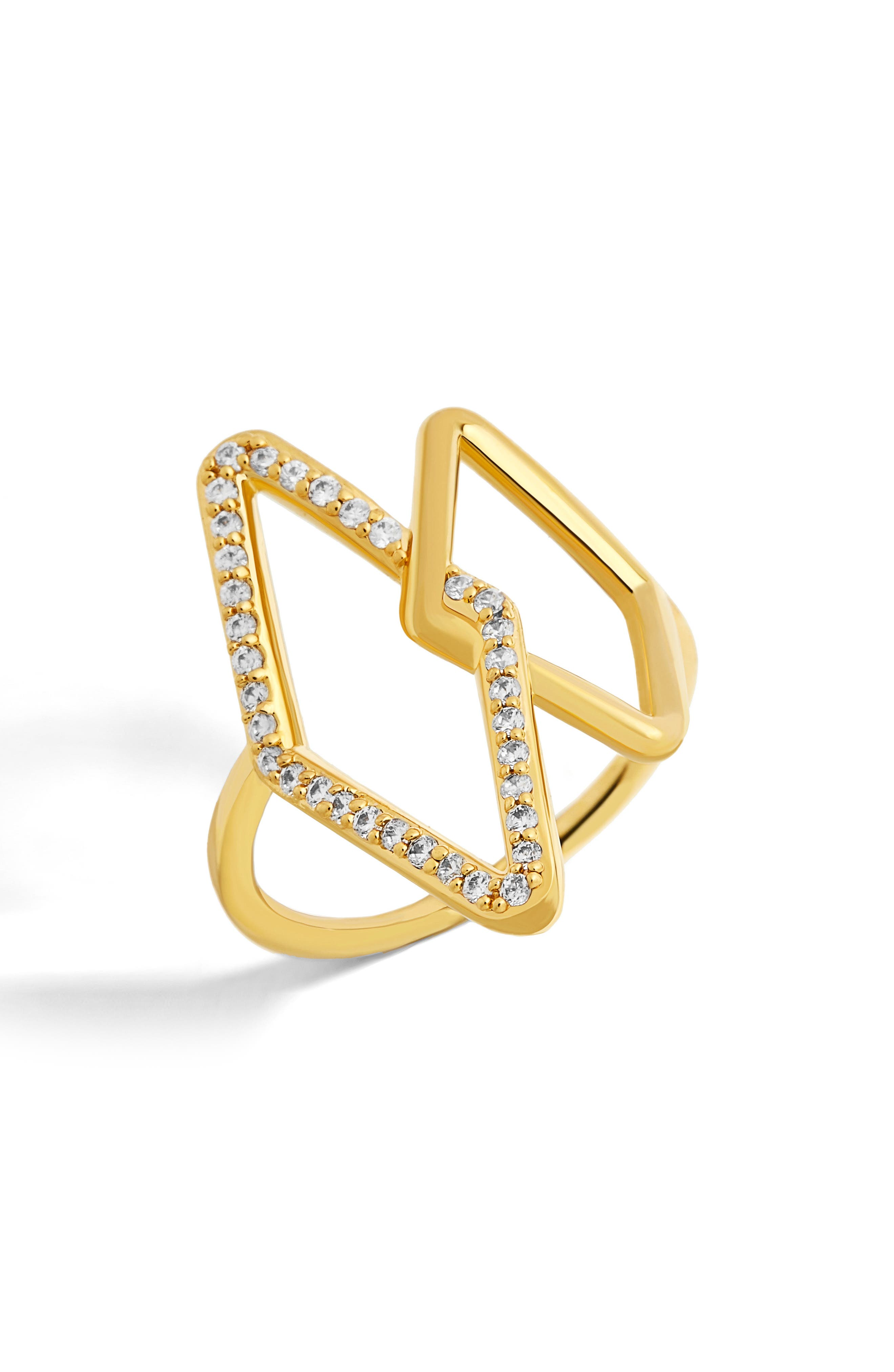 Triangulum Ring,                             Main thumbnail 1, color,                             Gold