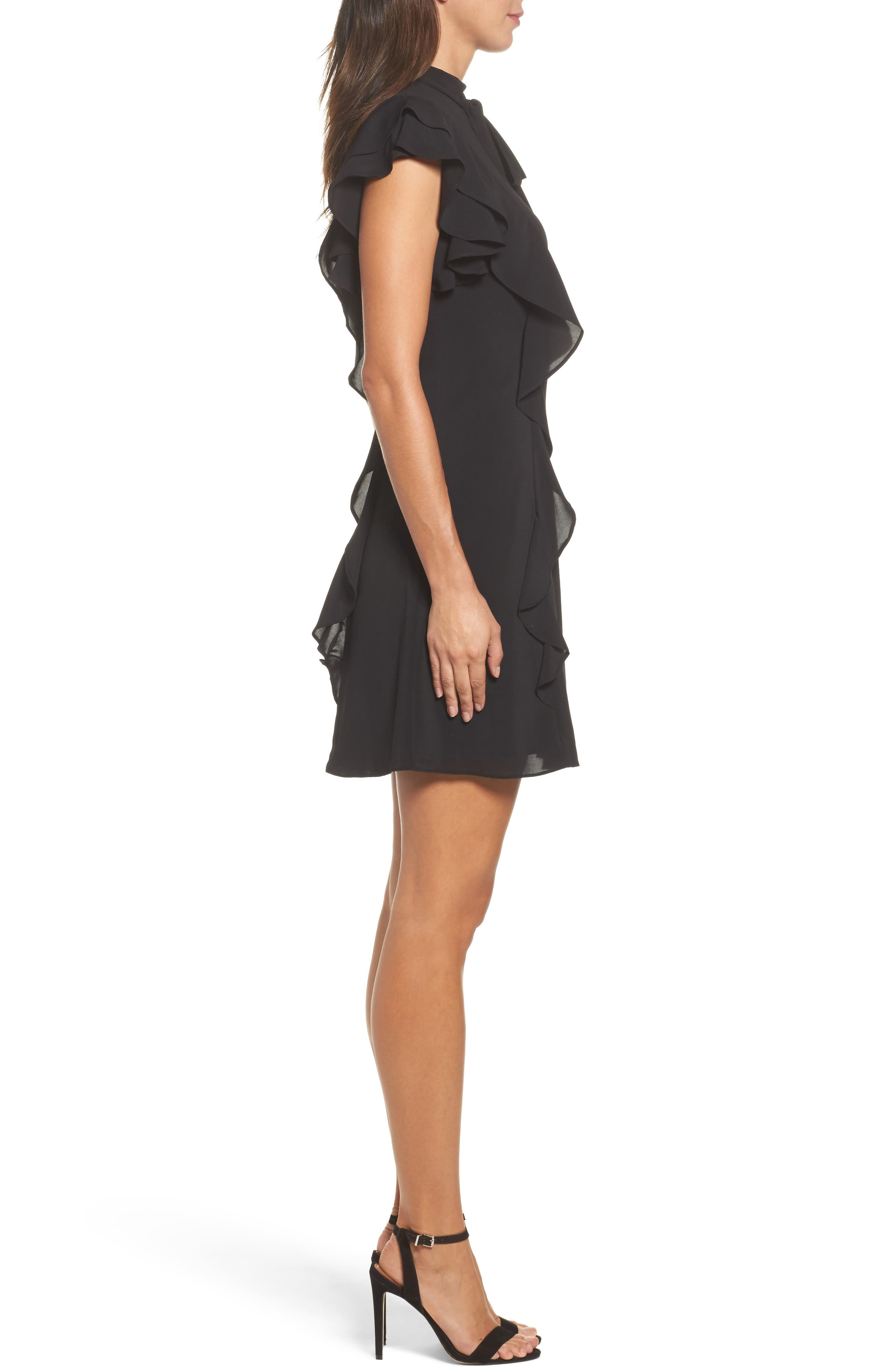 Alternate Image 3  - Julia Jordan Ruffle Tie Neck Sheath Dress