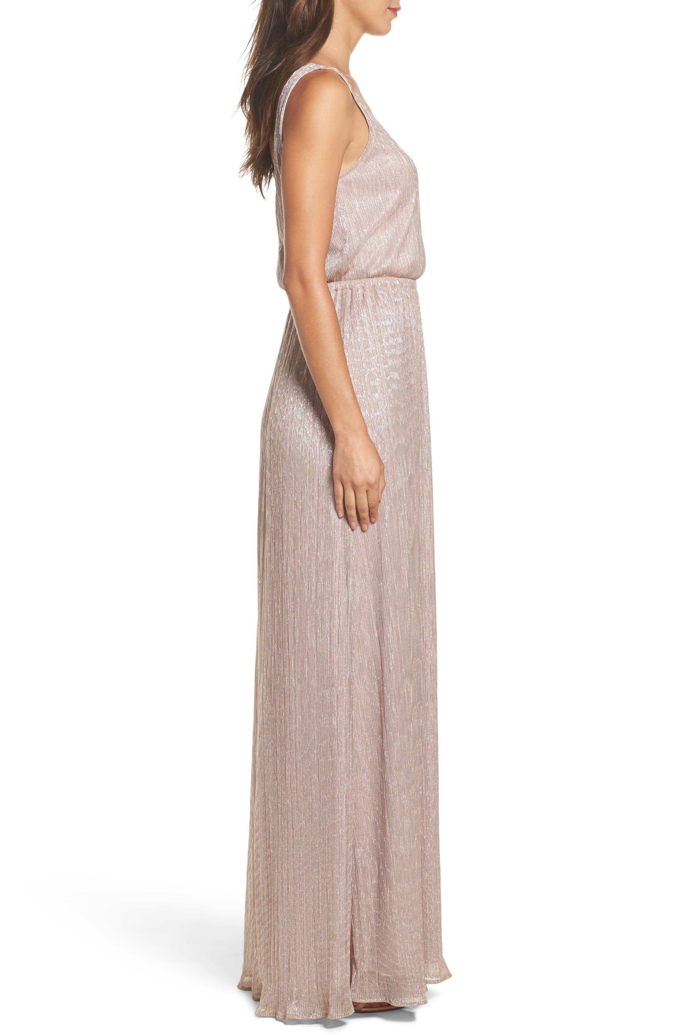 Kendall Blouson Maxi Dress,                             Alternate thumbnail 3, color,                             Magic Muave Glitter