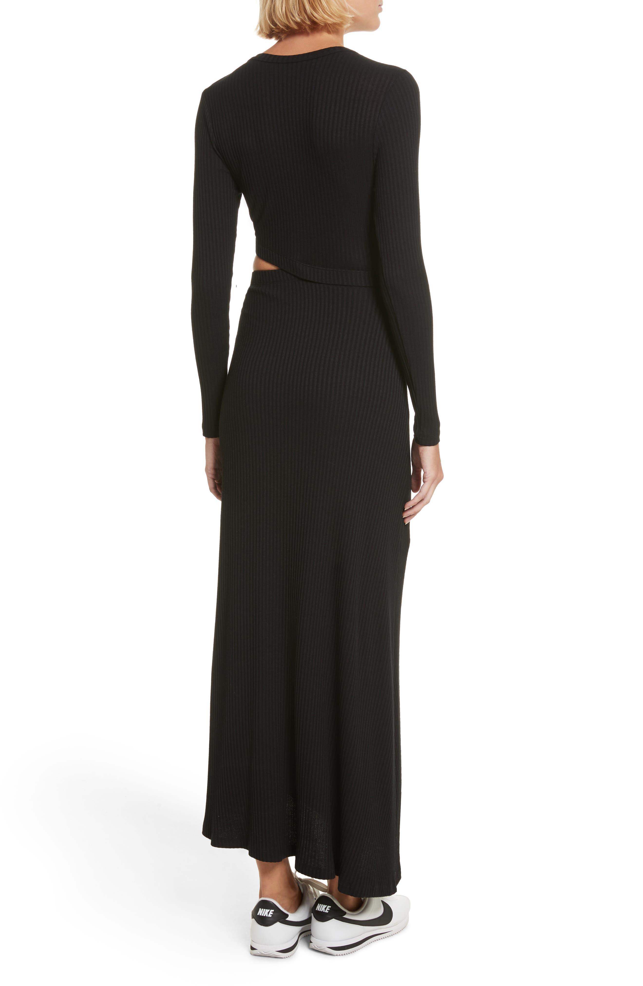 Rooney Cutout Dress,                             Alternate thumbnail 2, color,                             Black