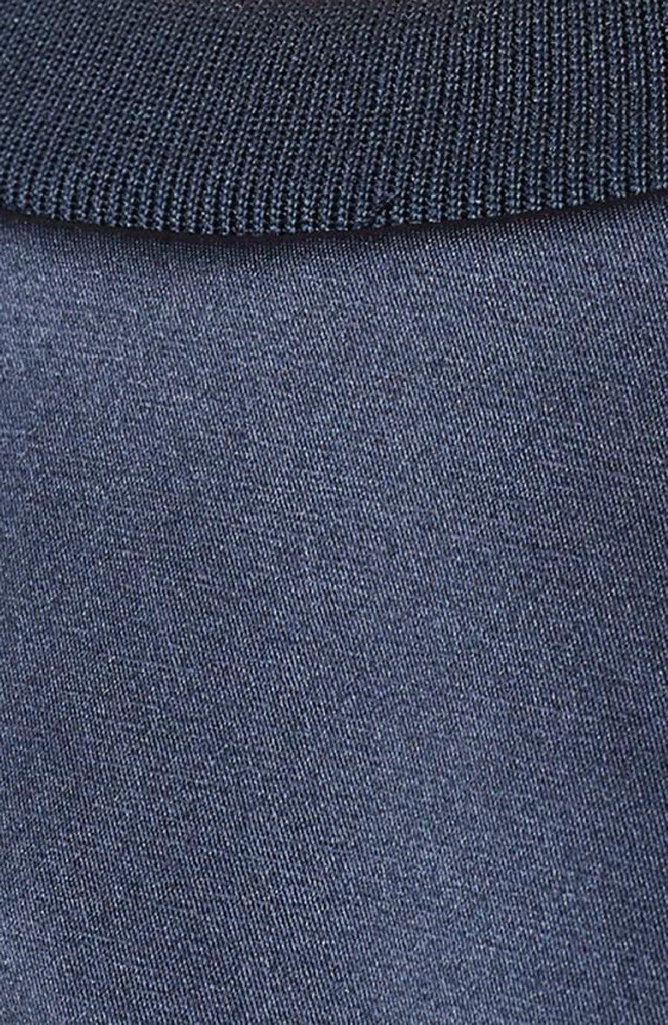Trefoil Crewneck Sweater,                             Alternate thumbnail 7, color,                             Legend Ink F17