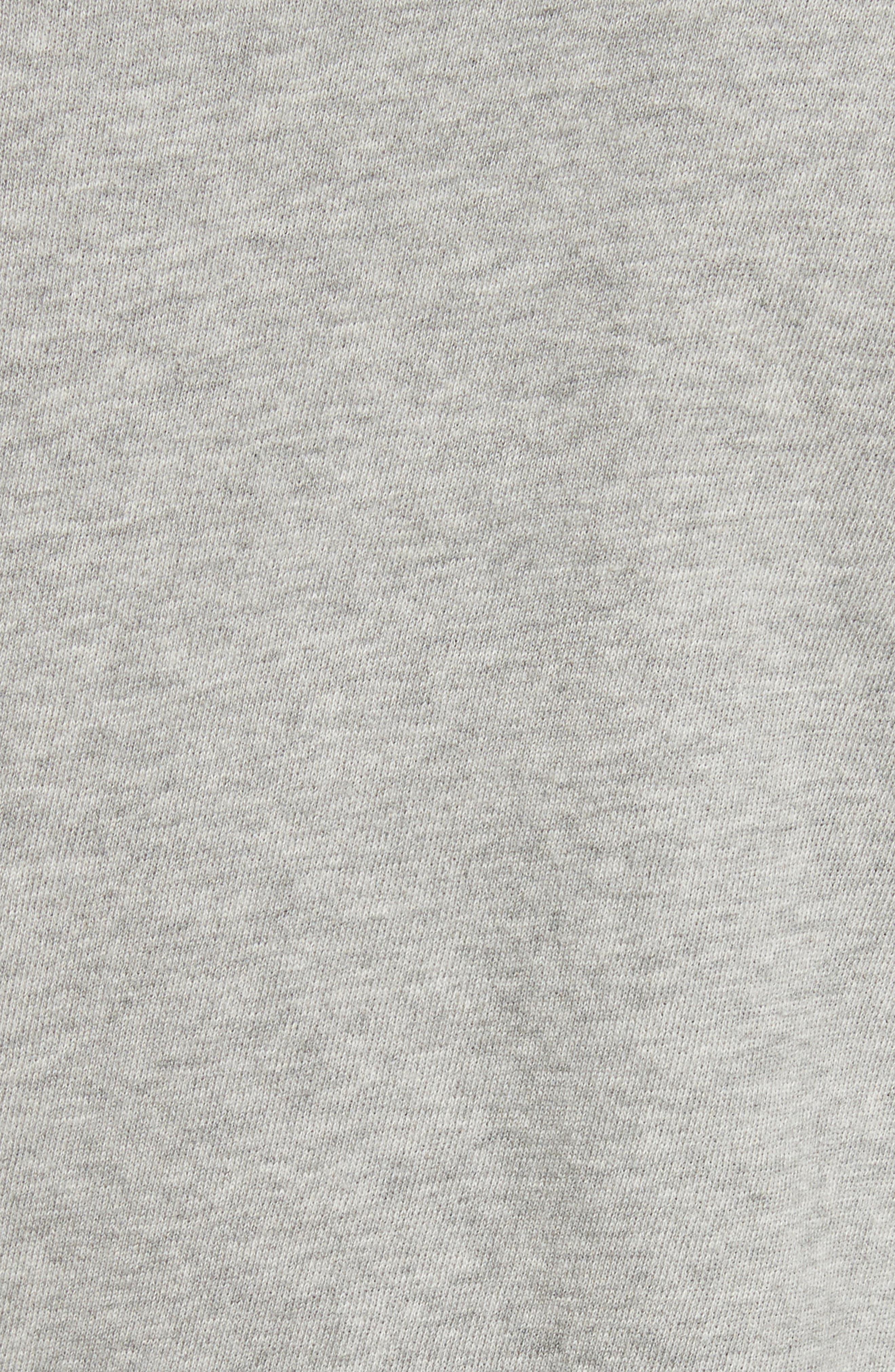 Camden Ruffle Sleeve Top,                             Alternate thumbnail 5, color,                             Heather Grey
