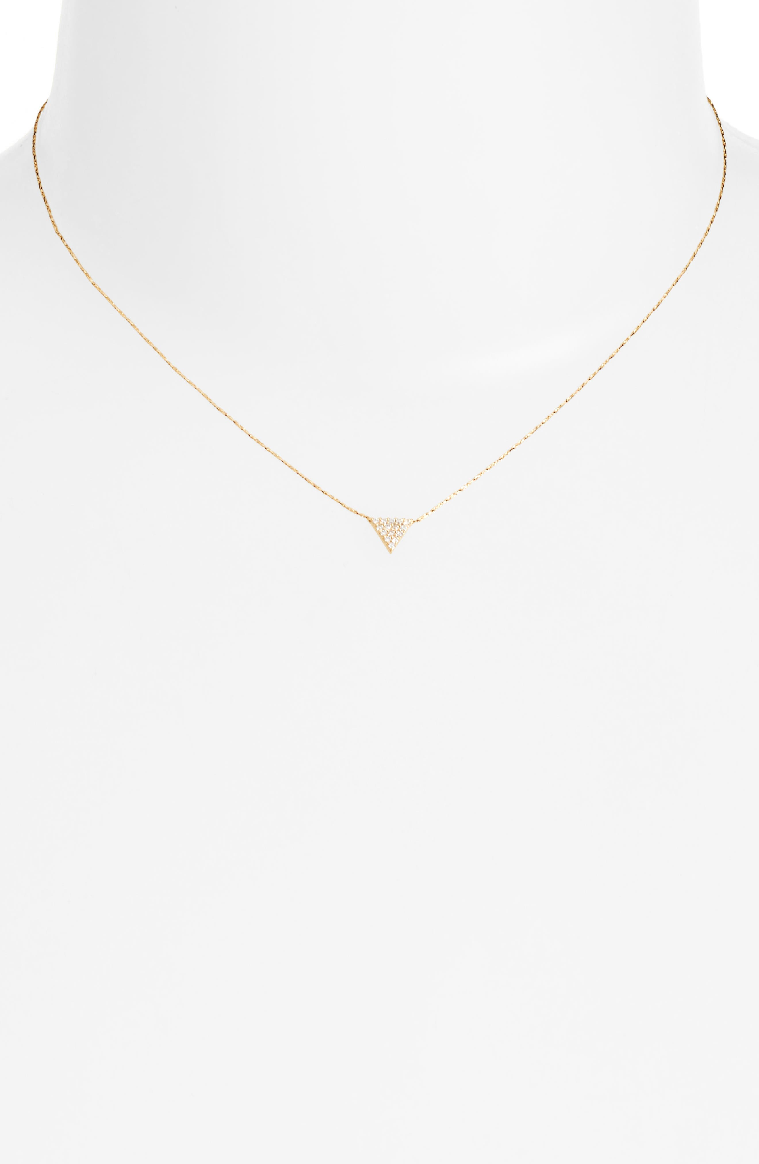 Franz Cubic Zirconia Necklace,                         Main,                         color, Gold/ Clear