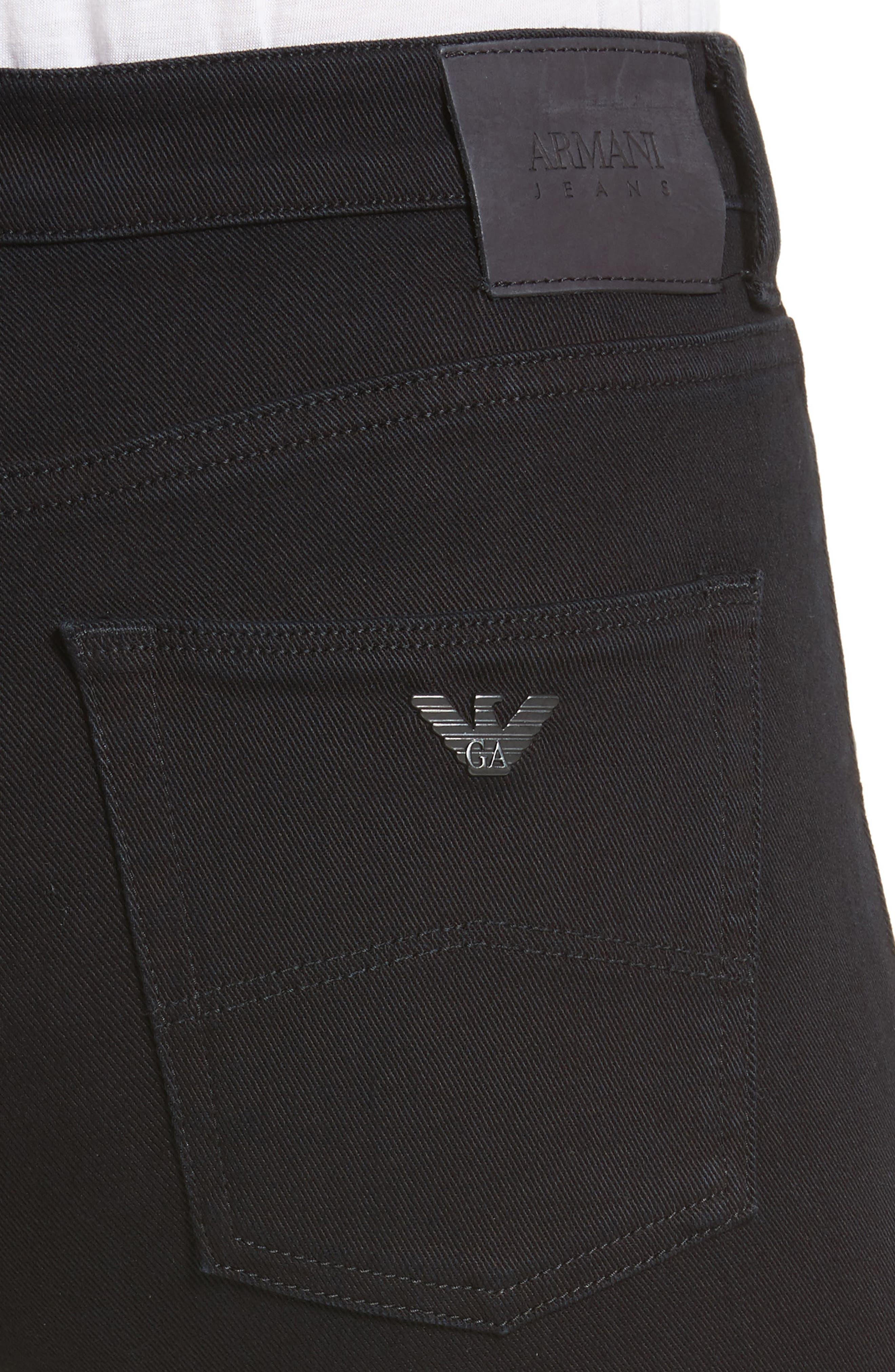 Straight Leg Jeans,                             Alternate thumbnail 4, color,                             Black