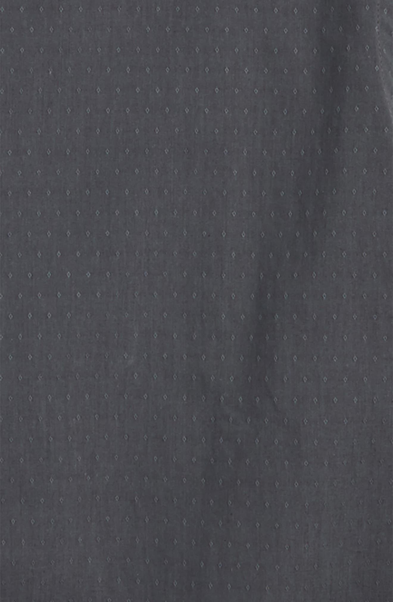 Dobby Dress Shirt,                             Alternate thumbnail 2, color,                             Black