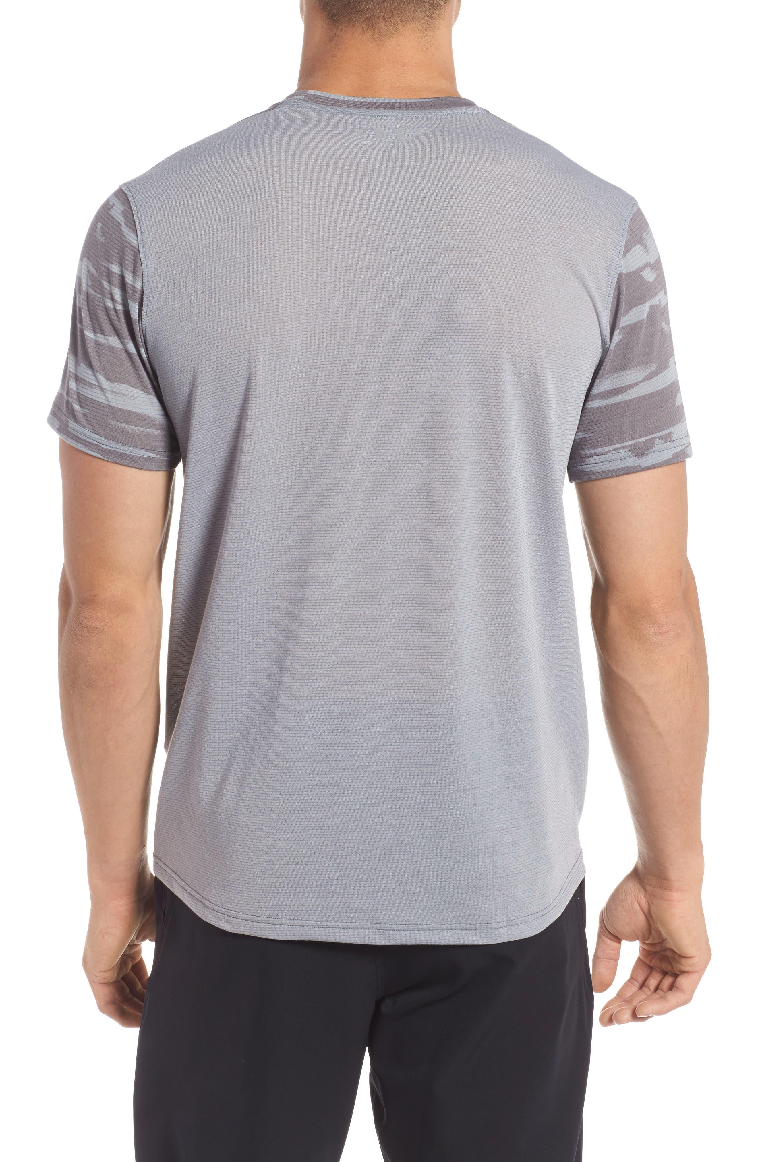 Threadborne Mesh Running T-Shirt,                             Alternate thumbnail 2, color,                             Grey / Black / Reflective