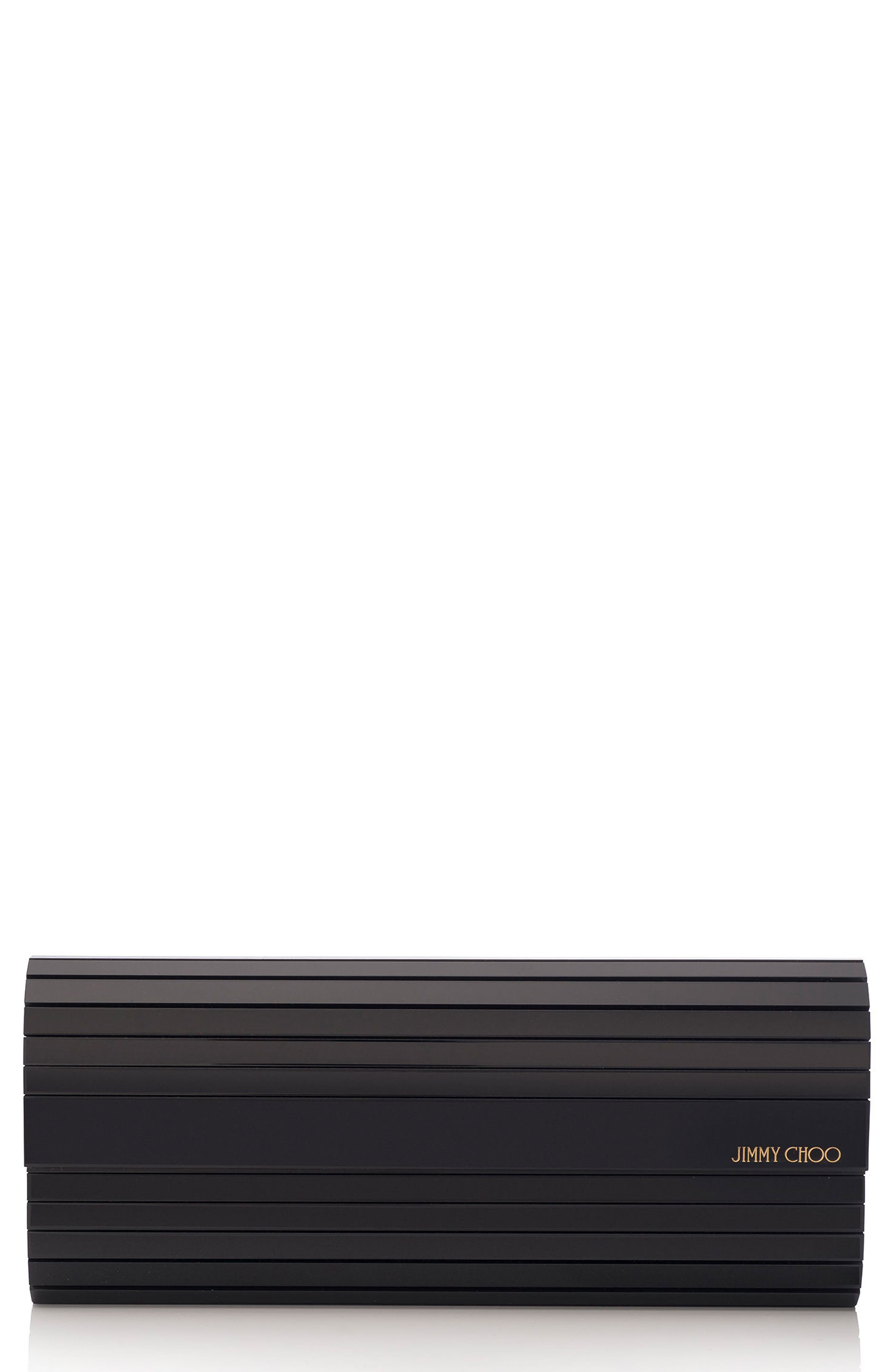 Sweetie Acrylic Clutch,                         Main,                         color, Black