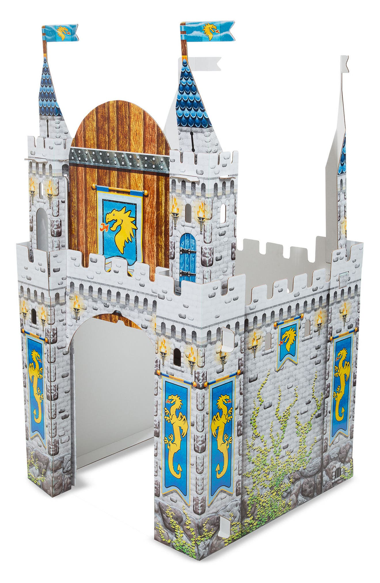 Cardboard Castle Playhouse,                             Alternate thumbnail 3, color,                             Grey