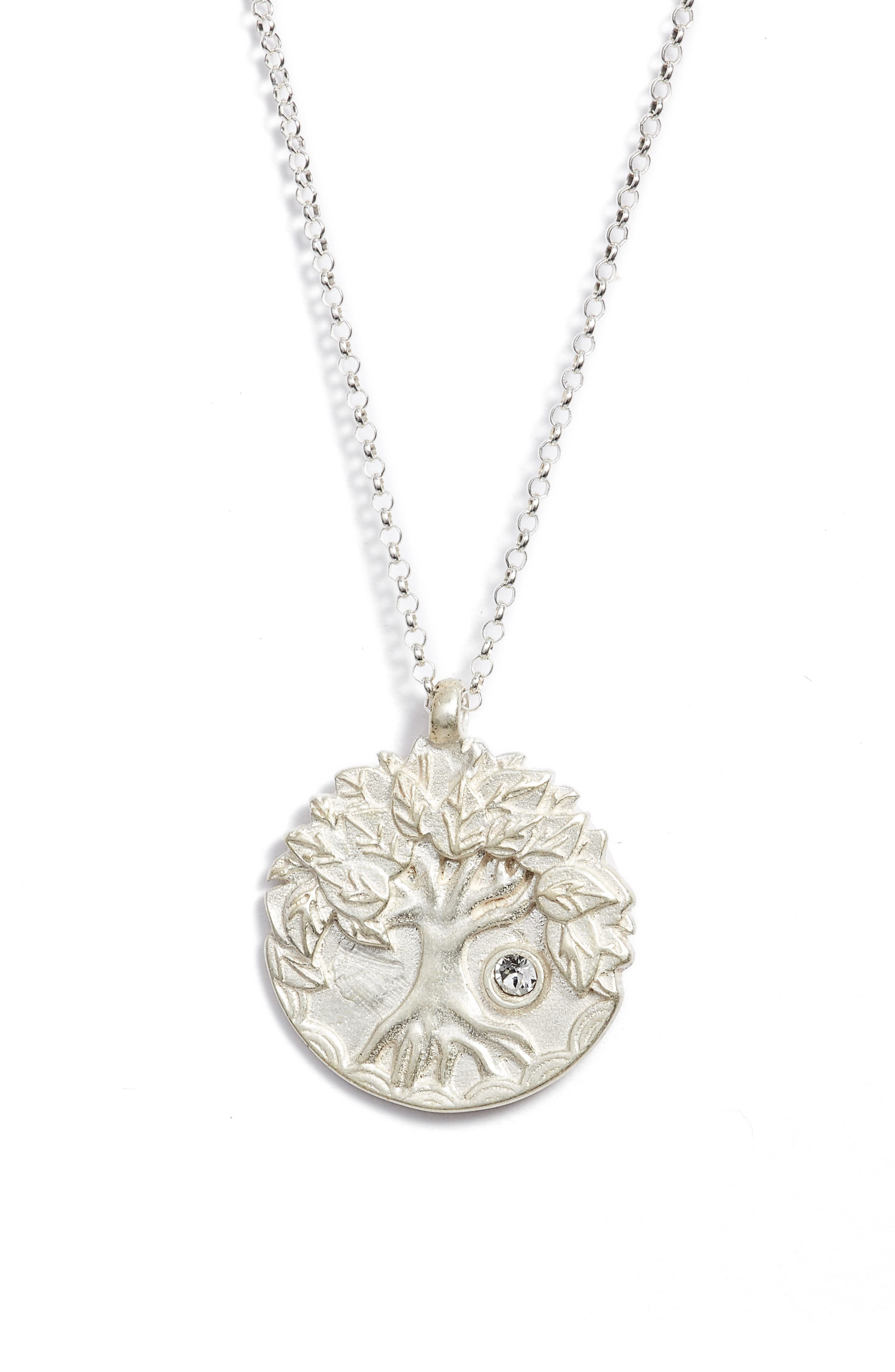 The Legacy Collection - Lift Up Your Eyes Upon... Pendant Necklace,                             Alternate thumbnail 3, color,                             Silver