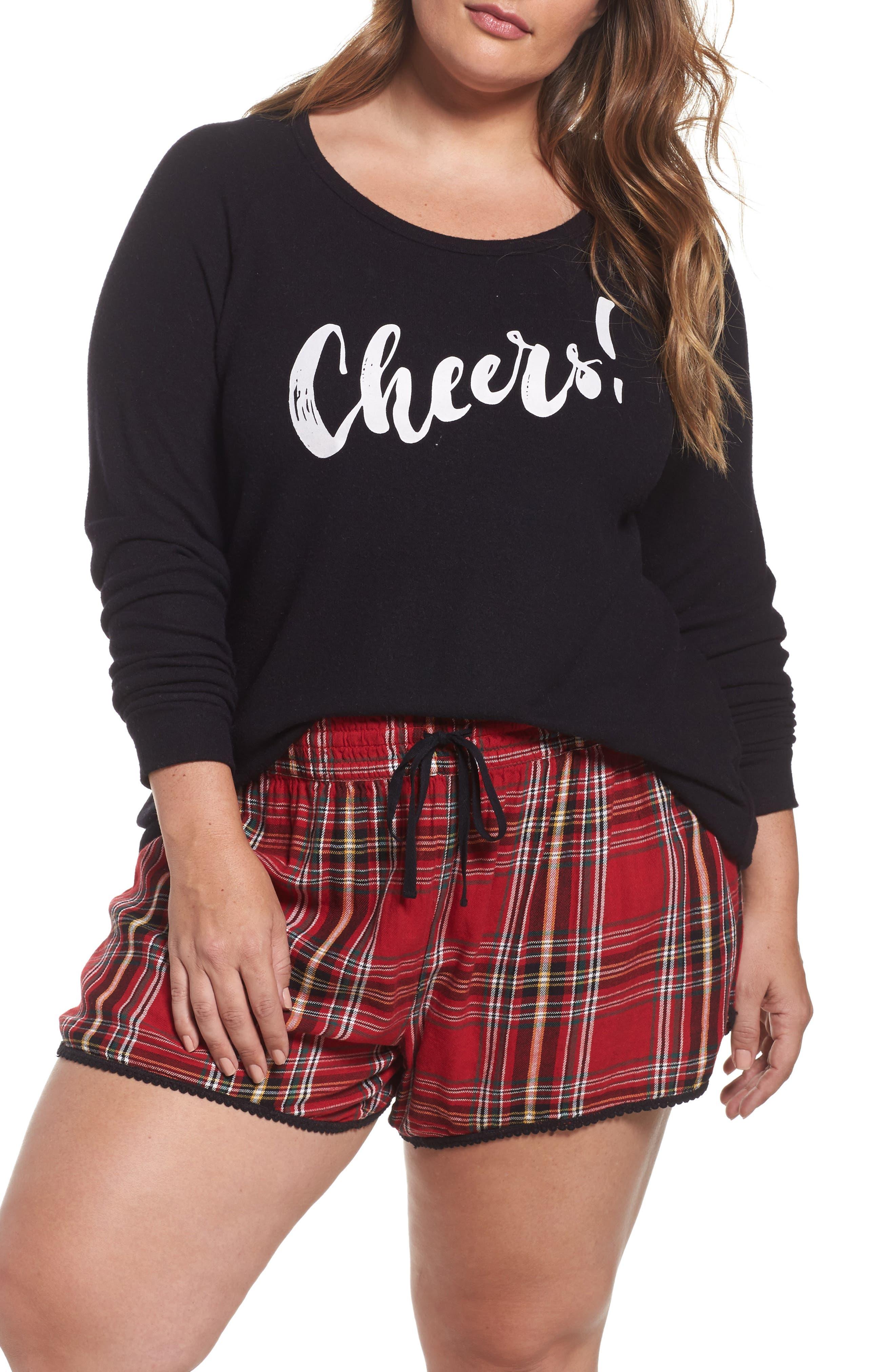 PJ Salvage Tee & Shorts (Plus Size)
