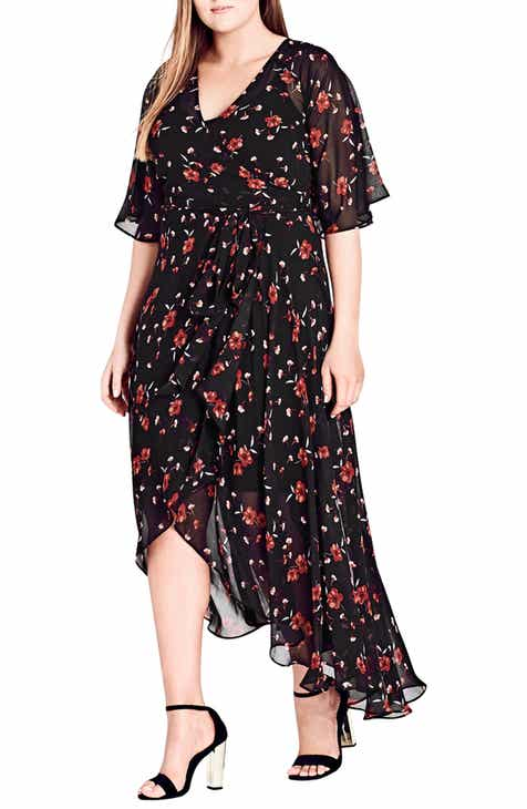 f34578767942 City Chic Fall in Love Floral Maxi Dress (Plus Size)