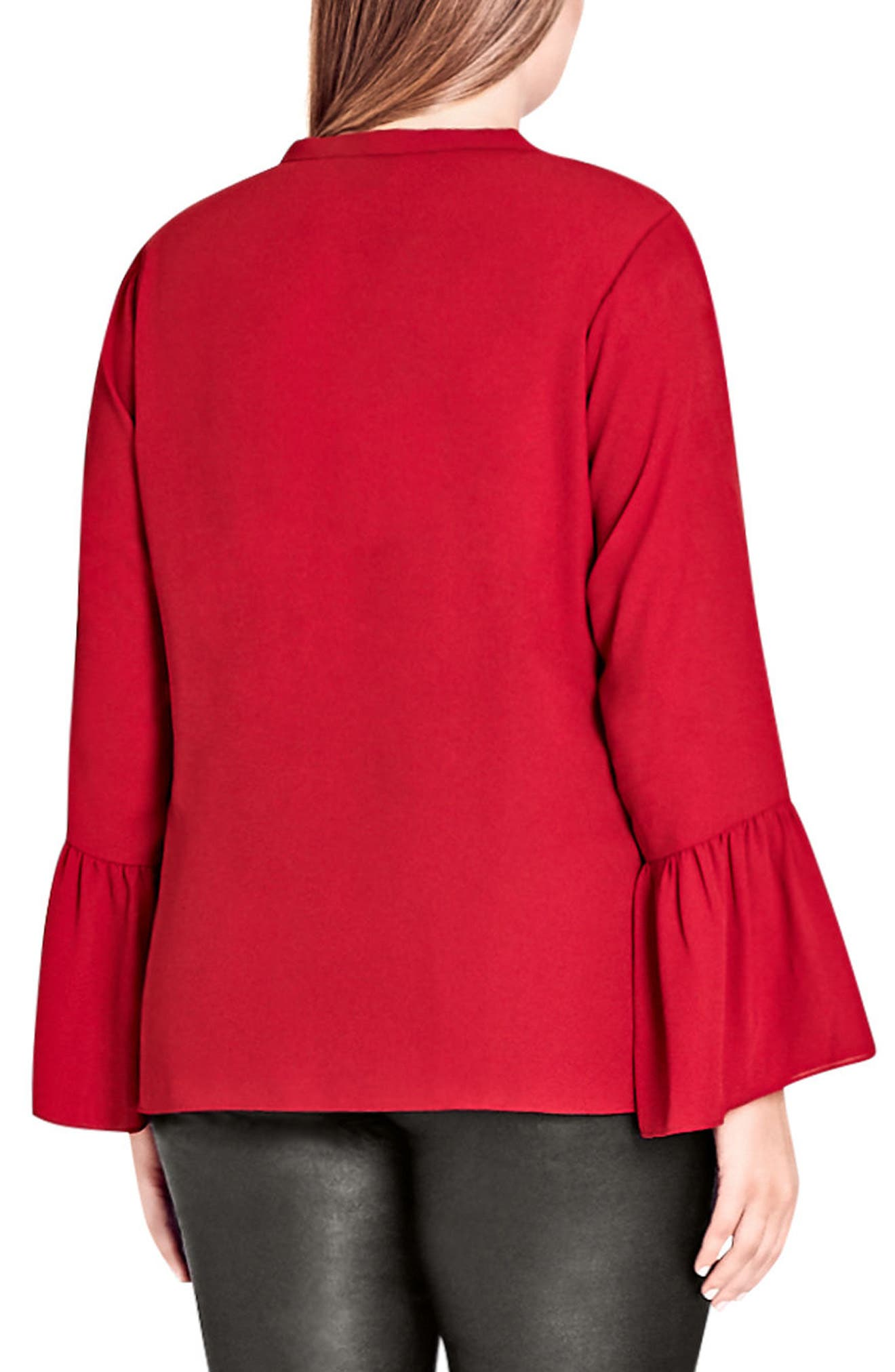 Office Fling Shirt,                             Alternate thumbnail 2, color,                             Red Rose