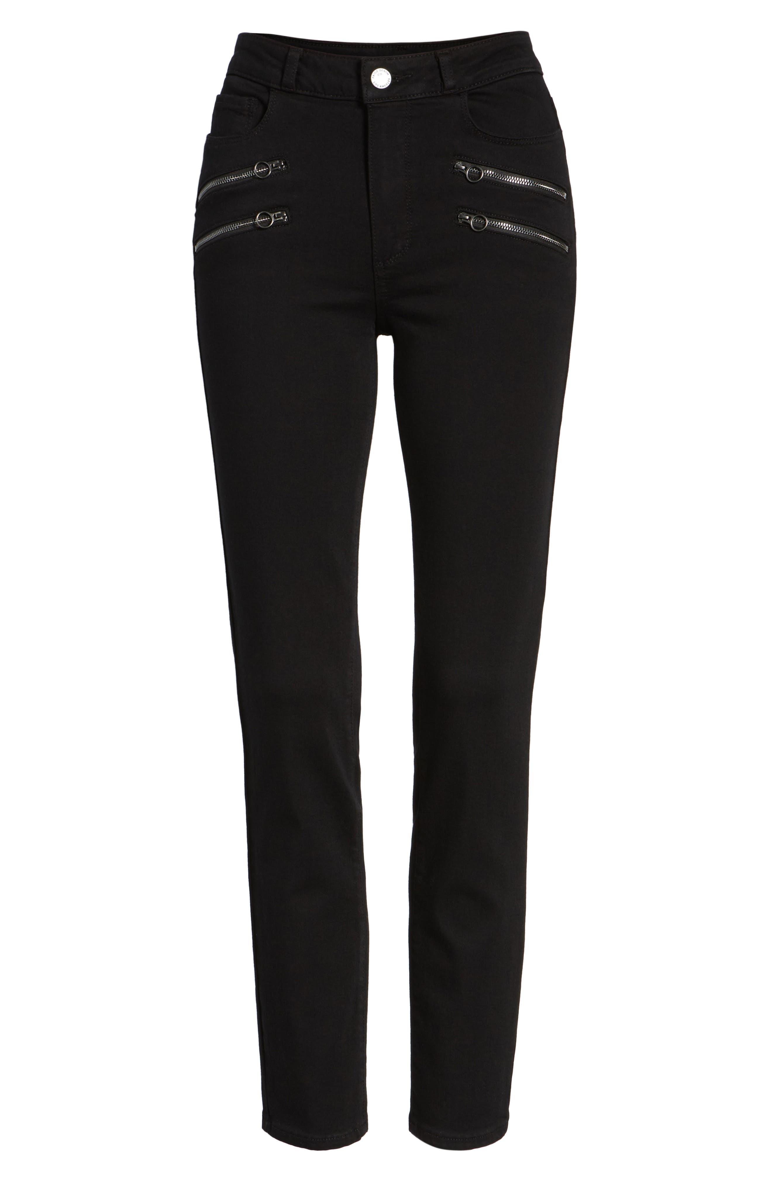 Alternate Image 7  - PAIGE Transcend - Kylo High Waist Skinny Jeans (Black Shadow)