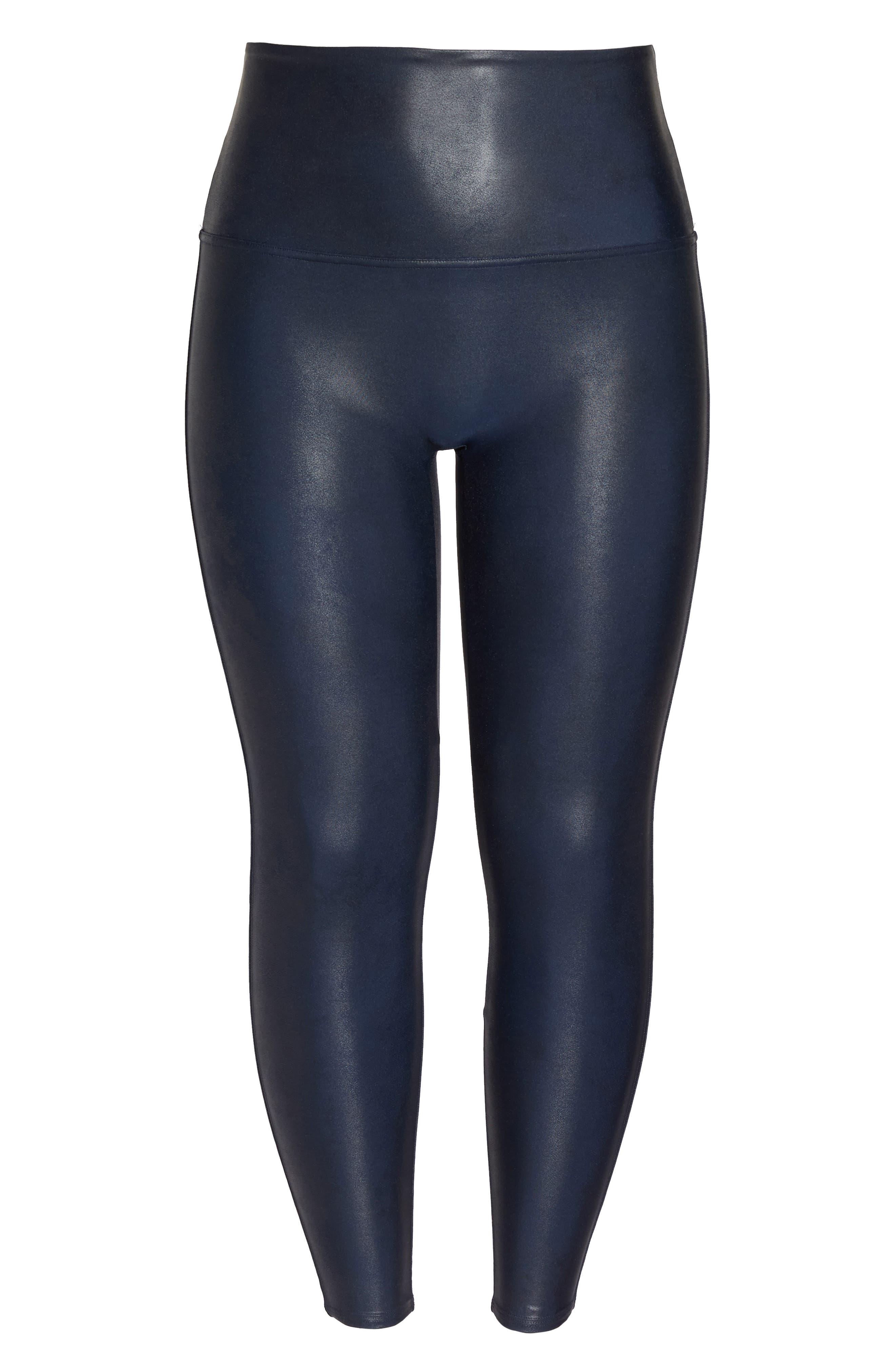 Alternate Image 4  - SPANX® Faux Leather Leggings (Plus Size)